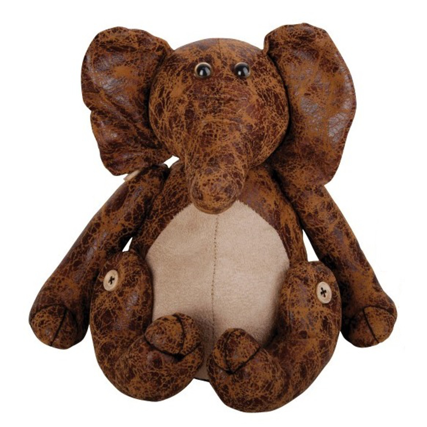 Elephant Faux Leather Suede Fabric Door Stopper Heavy Animal