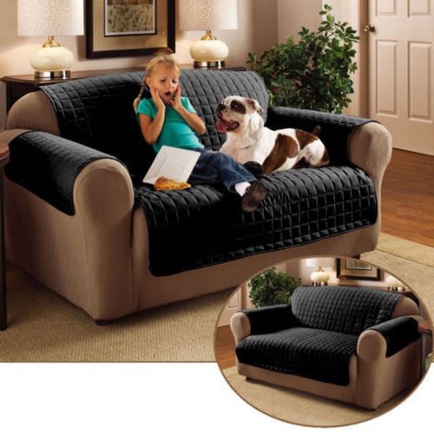 Sofa Protector Soil /& Snag Resistant Quilted Microfibe Throw Wine 1 2 3 Seater