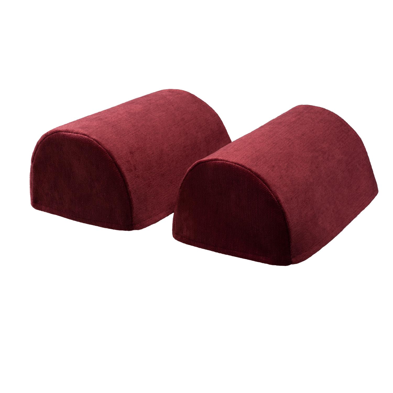 Chenille Round Arm Caps Plain Soft Touch Furniture Sofa Chair