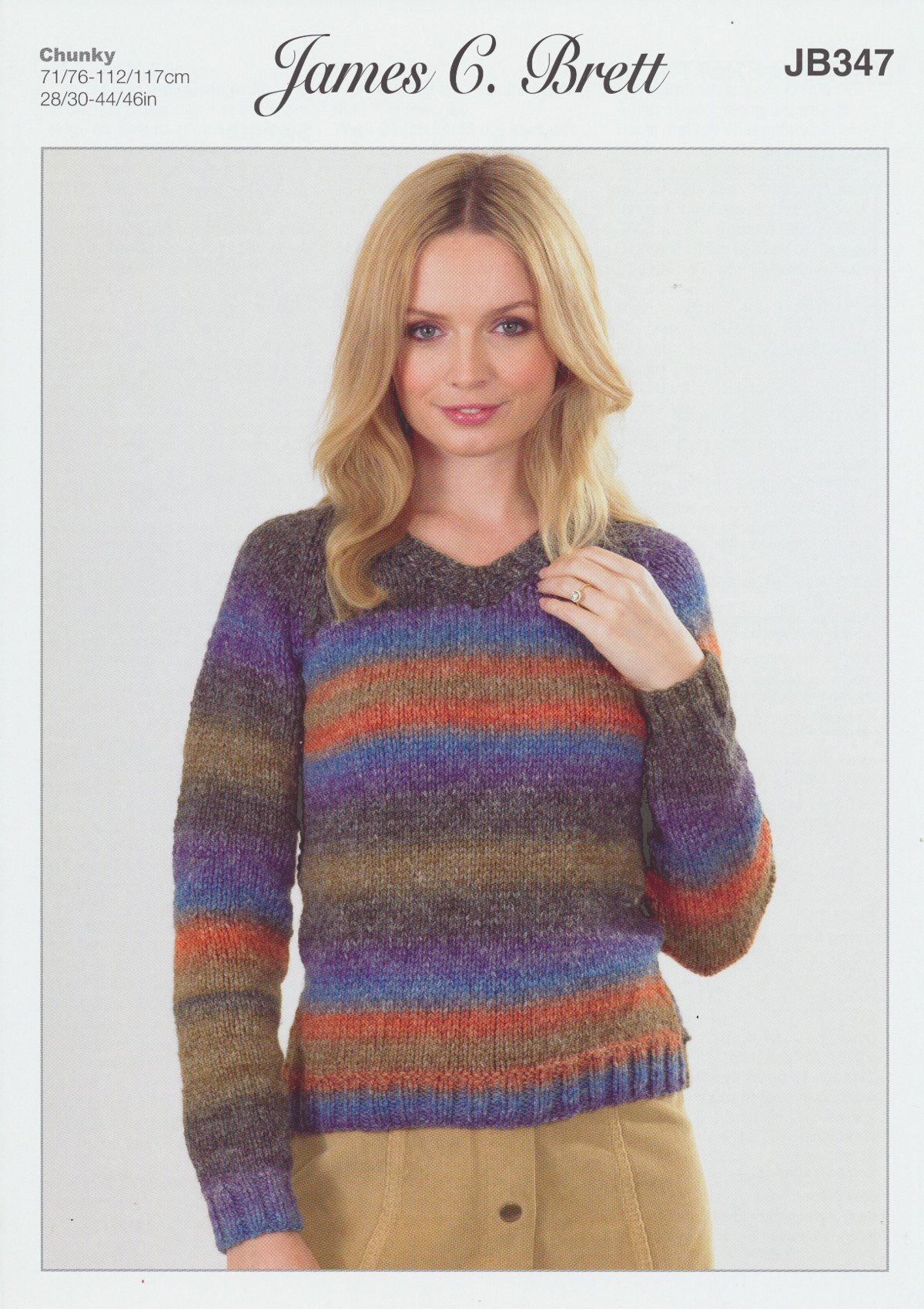 Lakeland chunky knitting pattern womens v neck long sleeved please look at images below for the chart showing measurements yarn and materials requirement to make this garment bankloansurffo Image collections