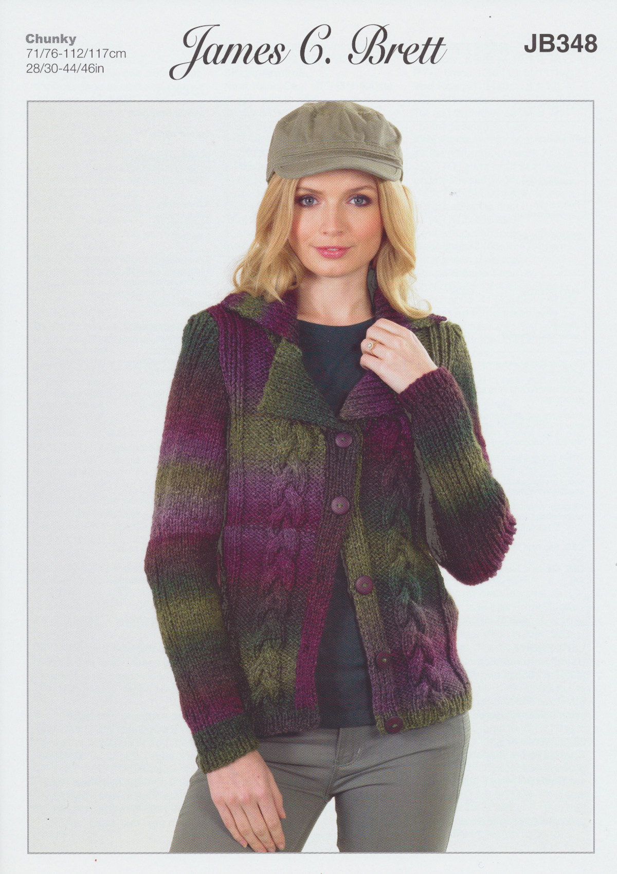 Lakeland Chunky Knitting Pattern Womens Cable Detail ...