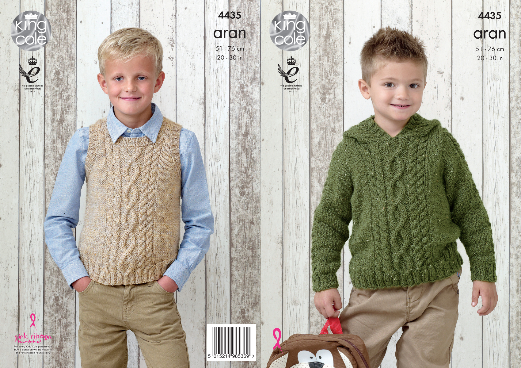 Boys Hooded Sweater & Slipover Knitting Pattern King Cole Big Value ...
