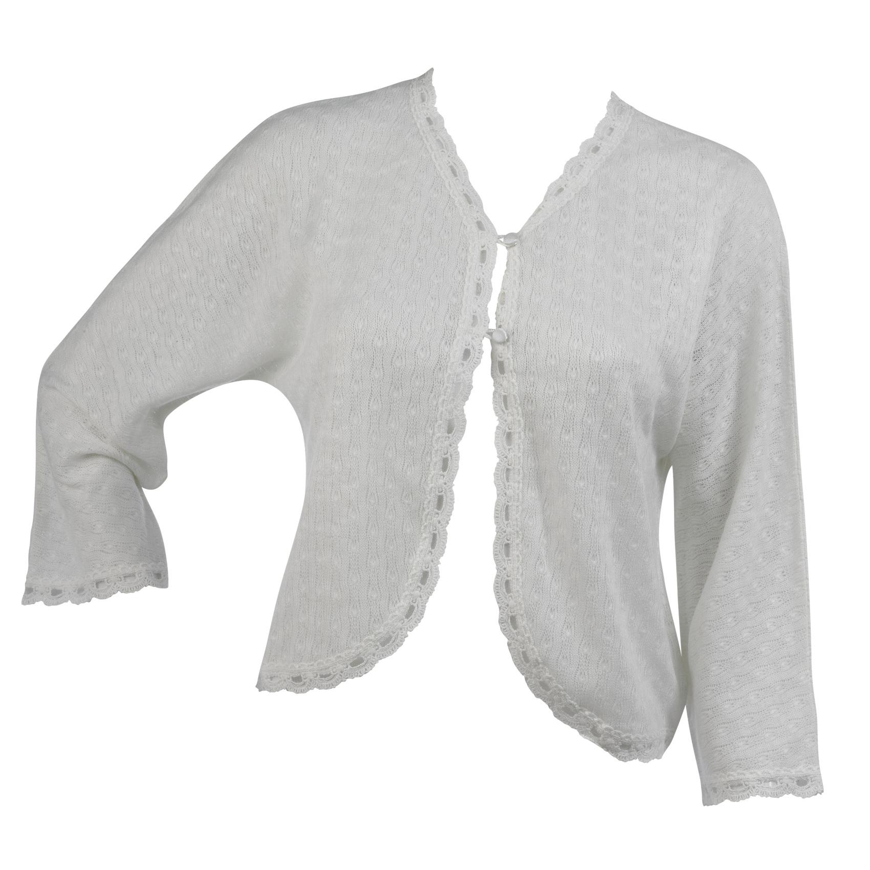 Slenderella Ladies 100 Acrylic Bed Jacket Button Cardigan ...
