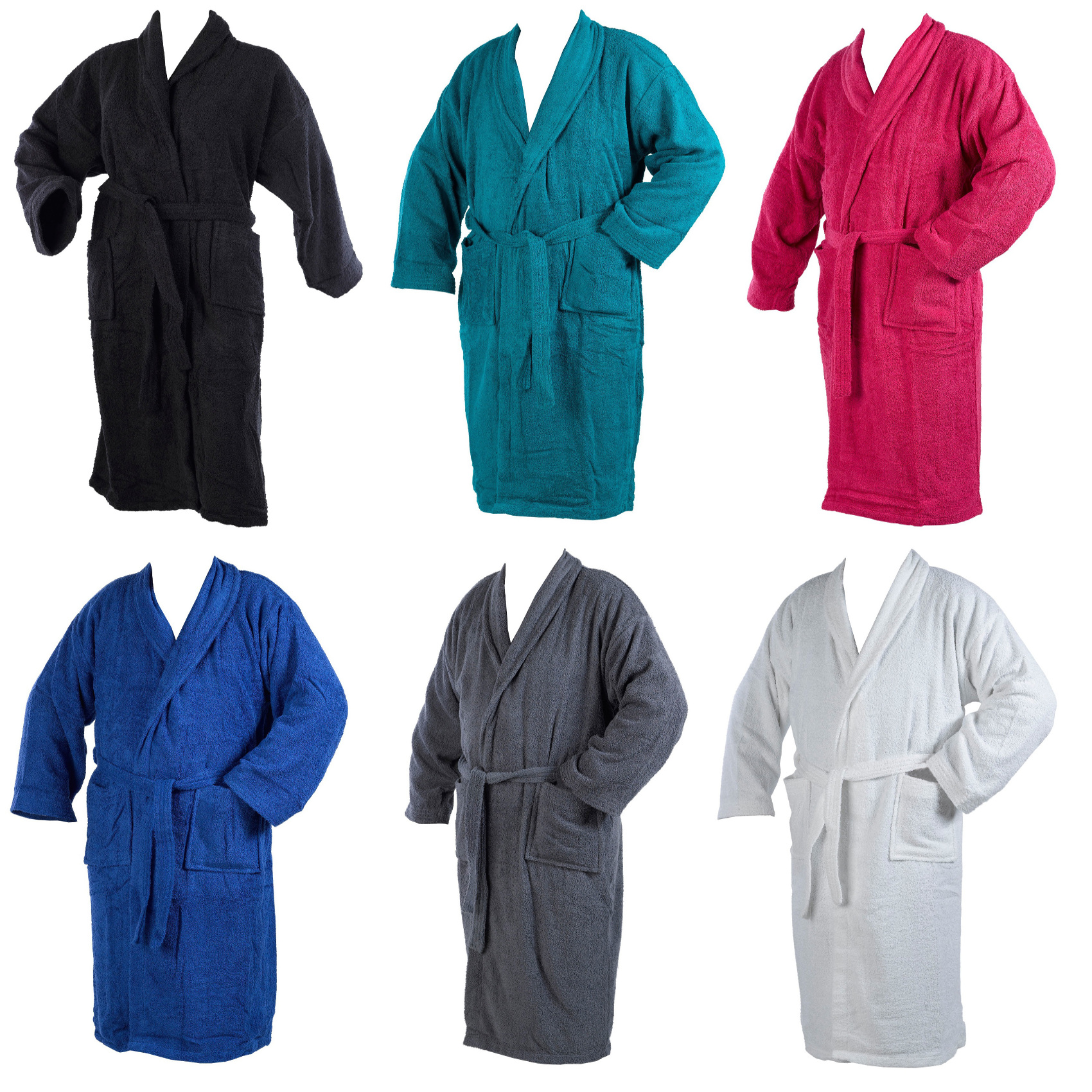 Dressing Gown 100% Cotton Terry Towelling Mens Womens Wrap Style Bathrobe  XL. Smiley face c4d300355