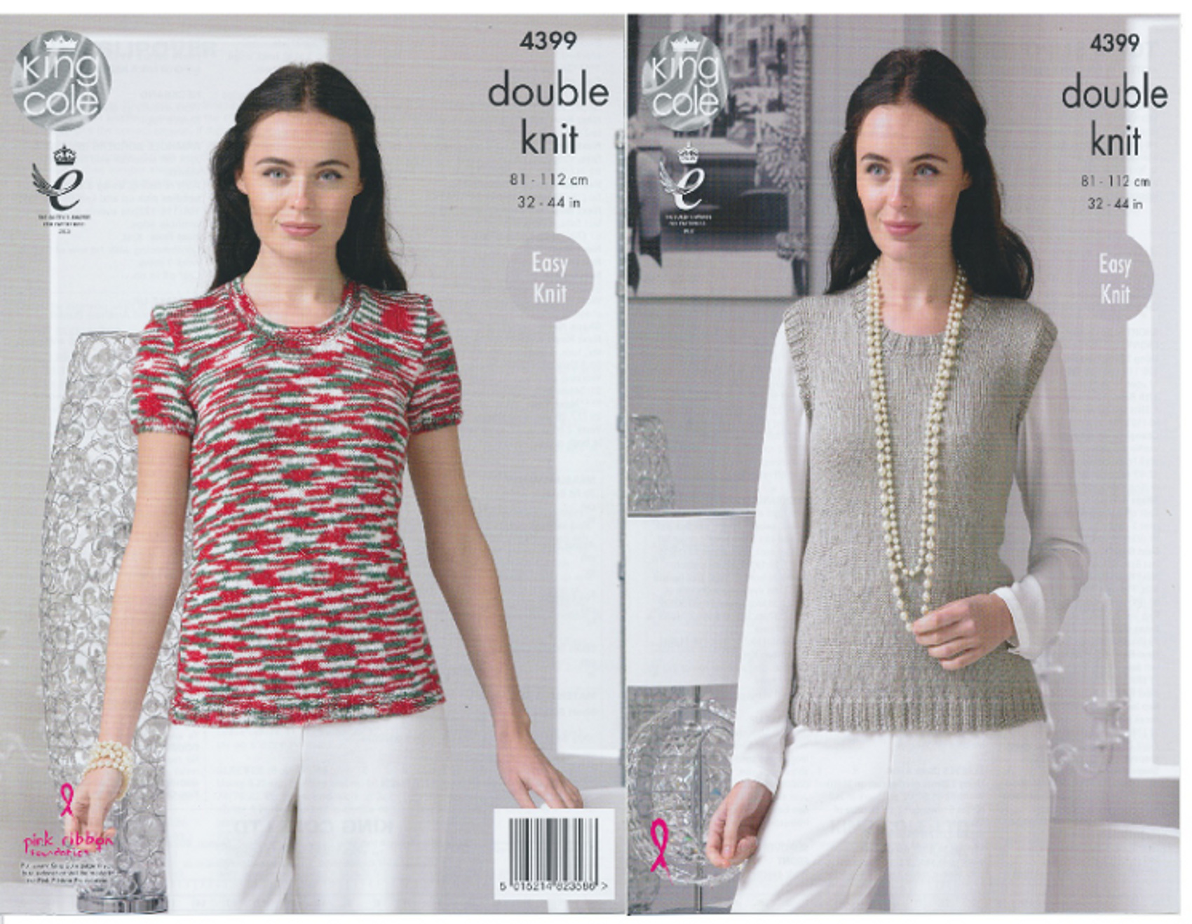 Womens Top & Slipover Double Knitting Pattern King Cole Easy Knit ...