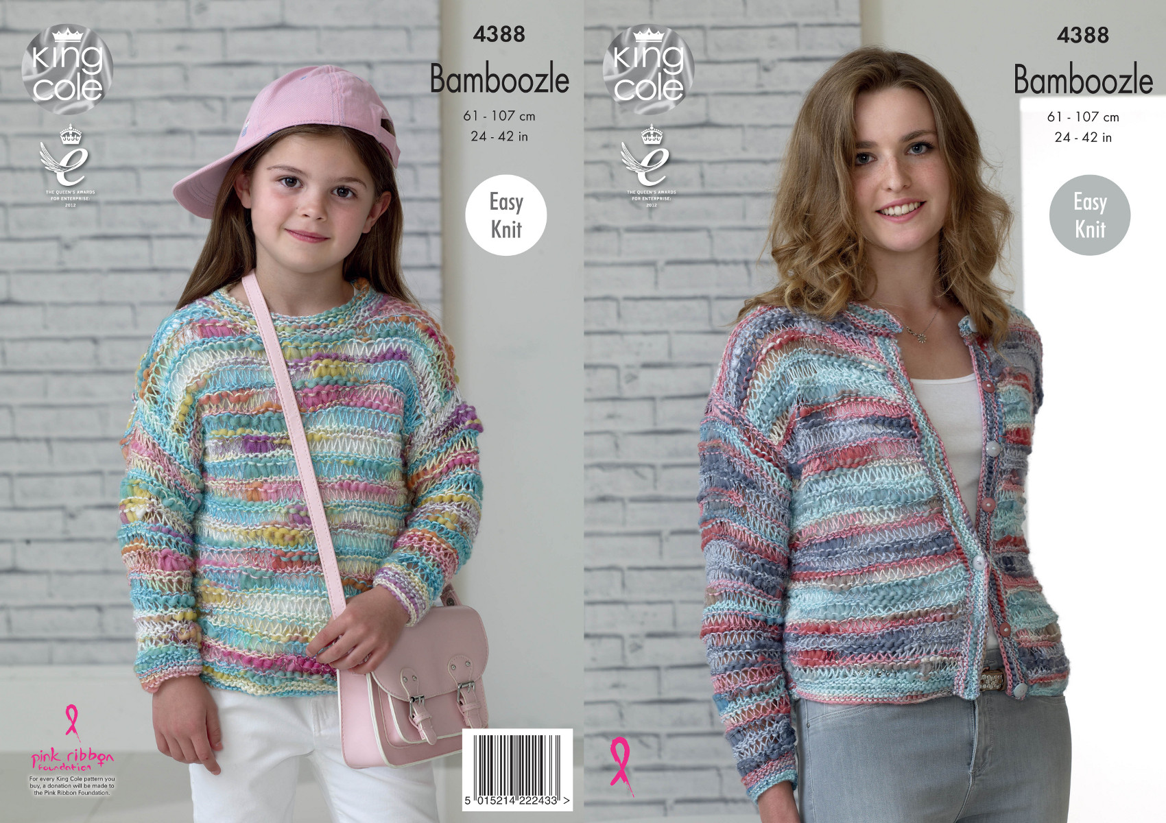 Knitting Jumper Pattern : Easy knit jumper cardigan knitting pattern womens girls king cole