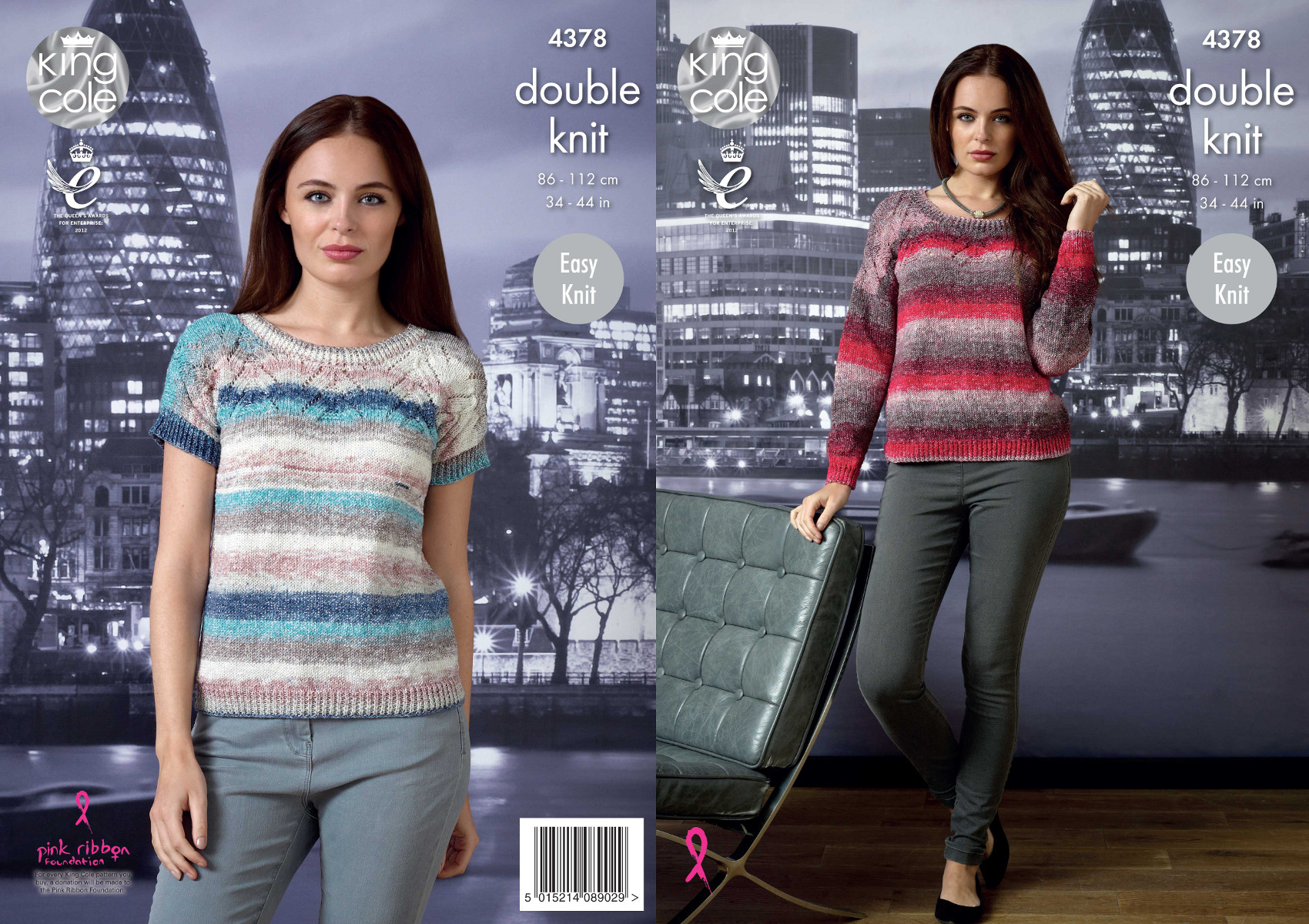 9d919ee58a9 Details about Easy Knit Womens Lace Style Tops Double Knitting Pattern King  Cole Shine DK 4378