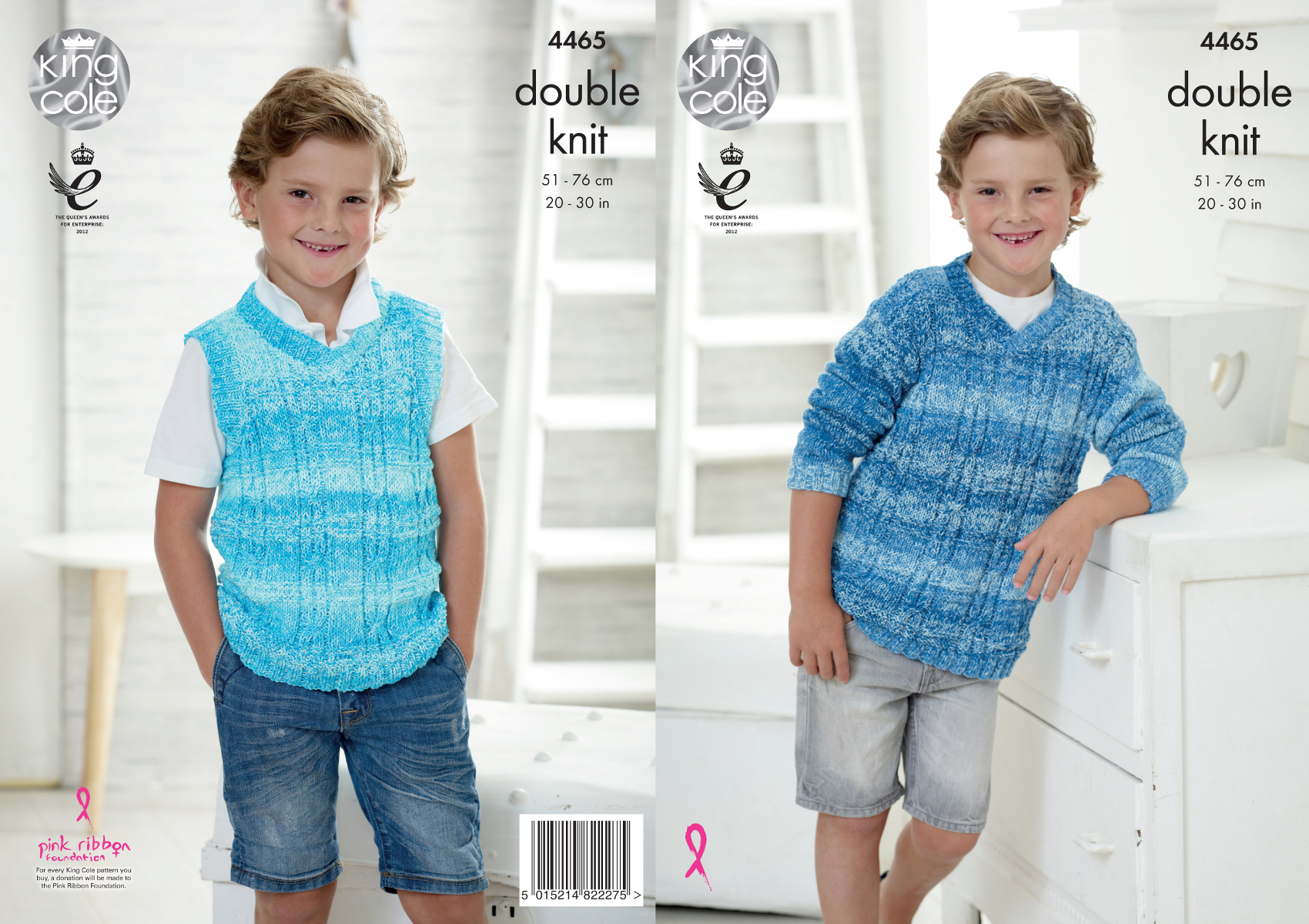 fe108084748 Details about King Cole Boys Double Knitting Pattern V Neck Sweater & Tank  Top Vogue DK 4465
