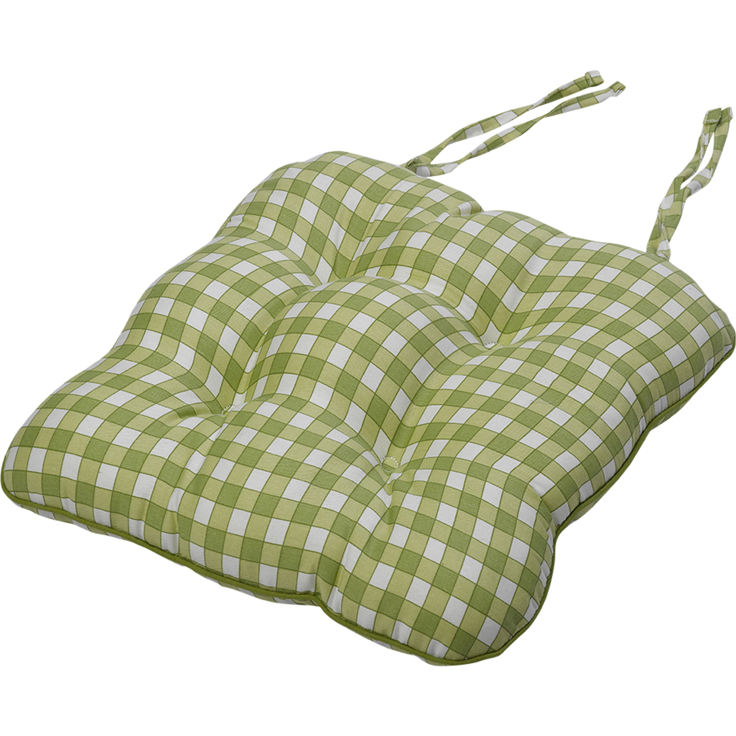 """Gingham Check Cotton Seat Pad 14"""" x 15"""" Kitchen Outdoor Dining"""