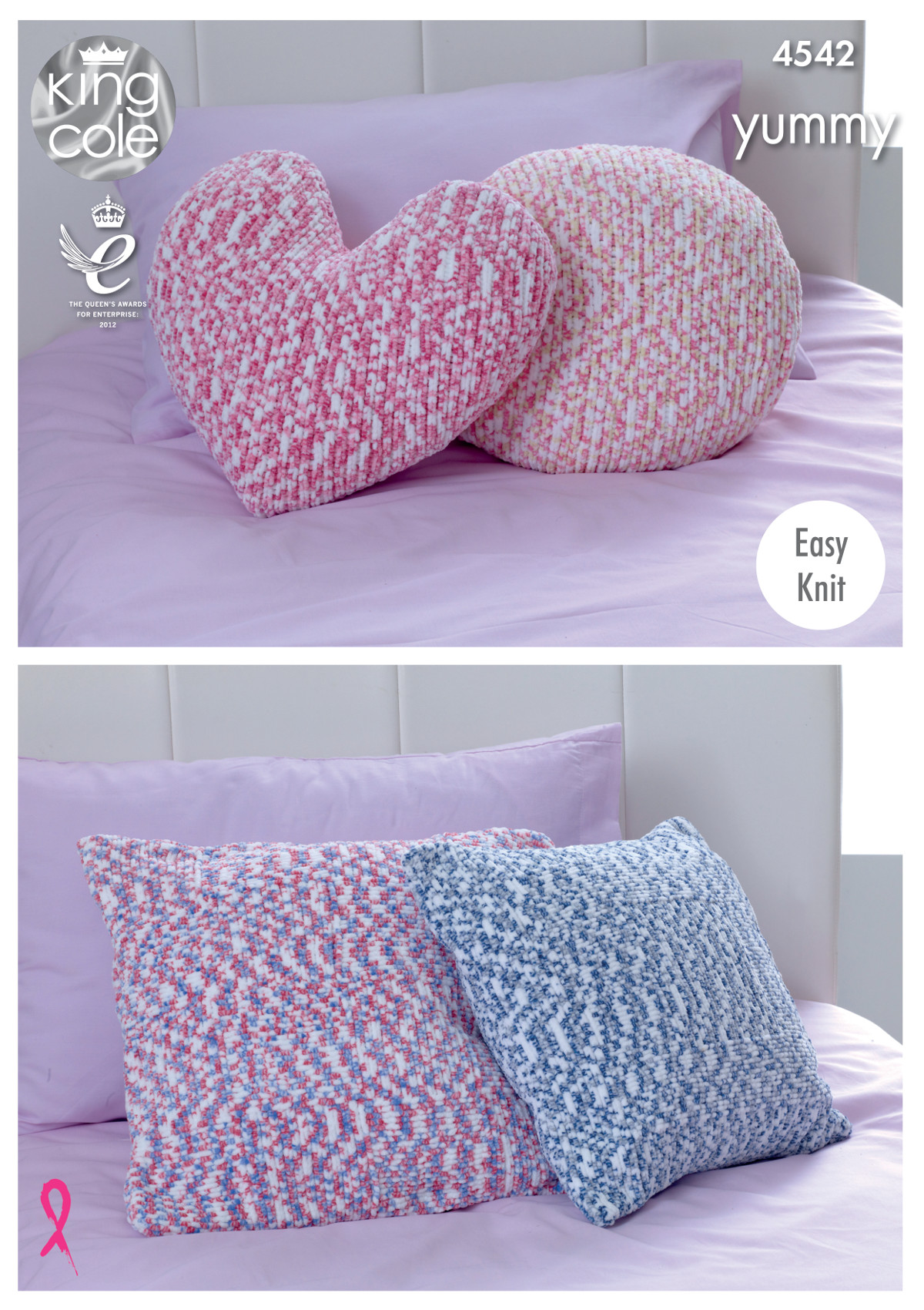 Easy knit cushions knitting pattern round square or heart king easy knit cushions knitting pattern round square or heart king cole yummy 4542 bankloansurffo Gallery