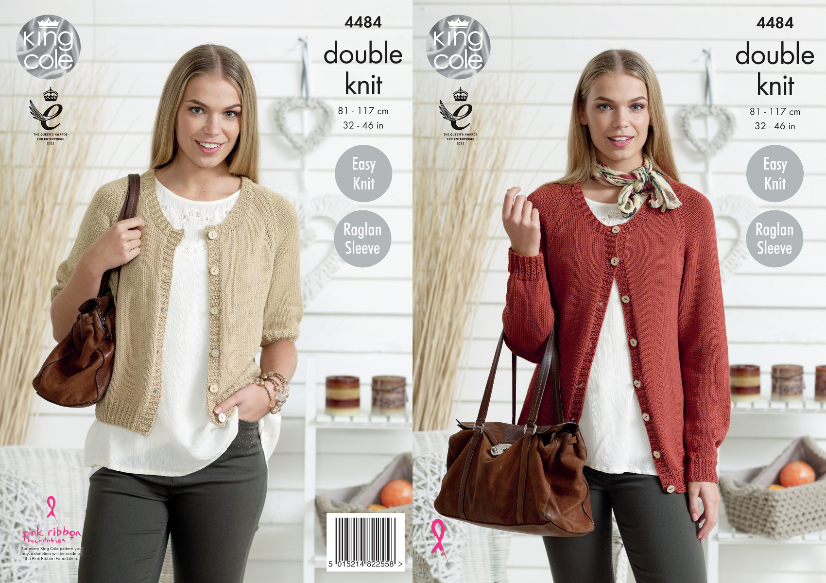 King Cole Womens Double Knitting Pattern Easy Knit Raglan Sleeve ...