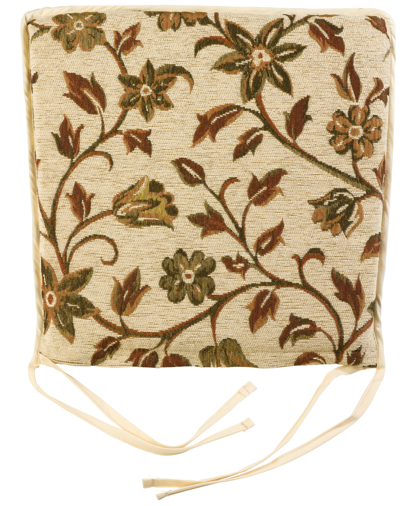 These Square Shaped Seat Pads Have A Pretty Floral Tapestry Style Pattern Throughout And They Would Be Ideal For Garden Kitchen Or Dining Room Chairs