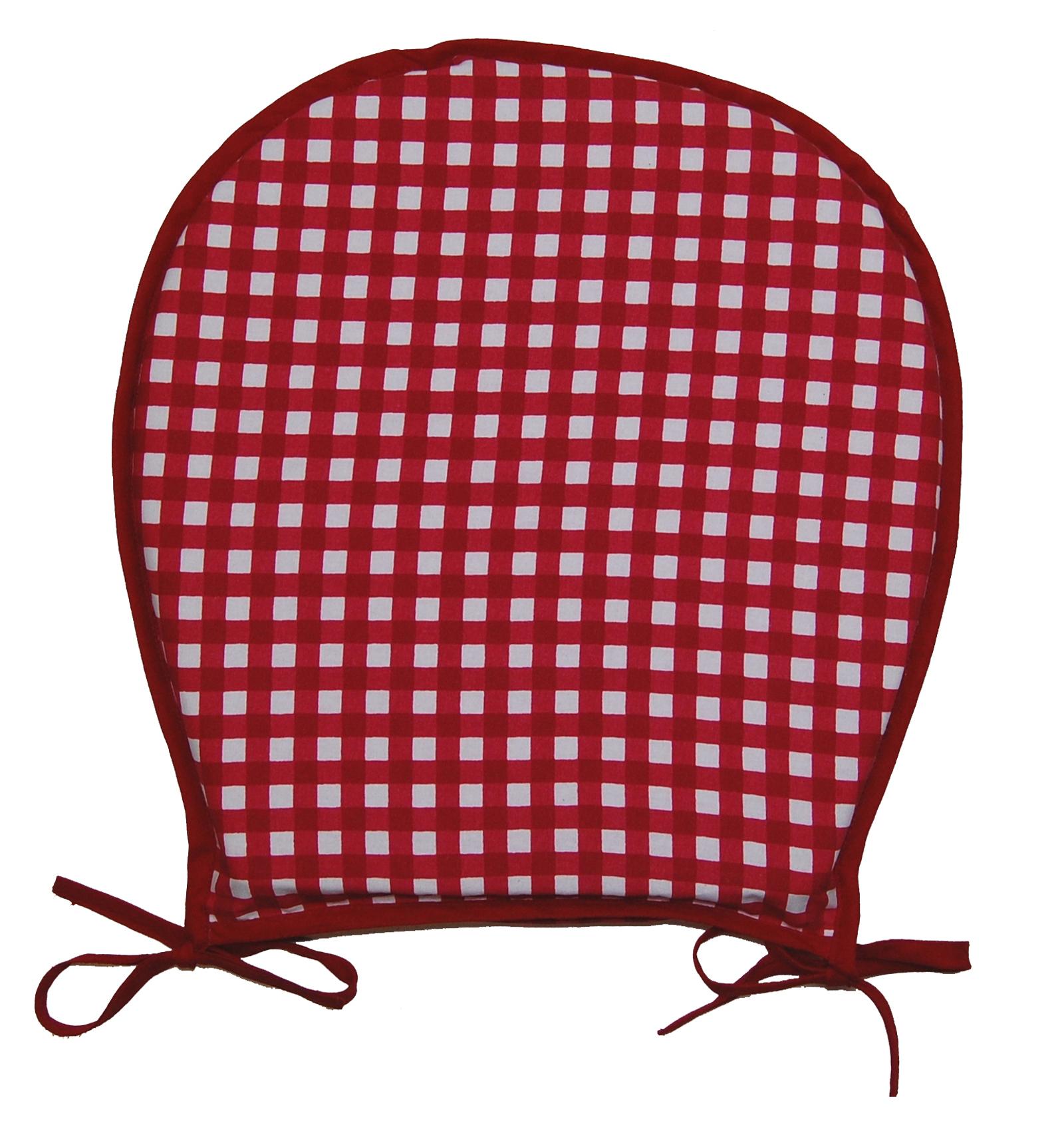 asiento de cuadro de vichy para la silla de cocina