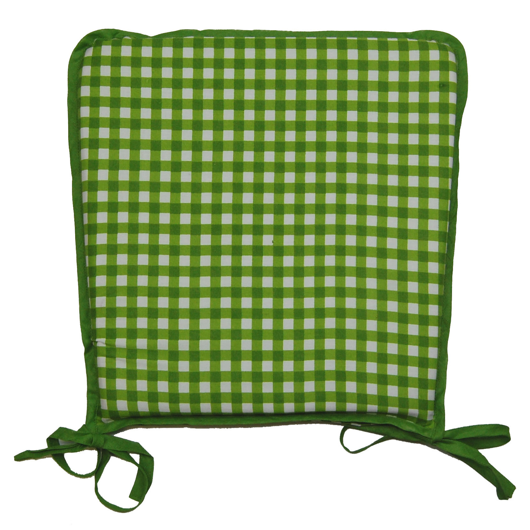 Picture of: Home Furniture Diy Gingham Green Circular Zip Off Seat Pads Suitable For Kitchen Dining Room Kisetsu System Co Jp