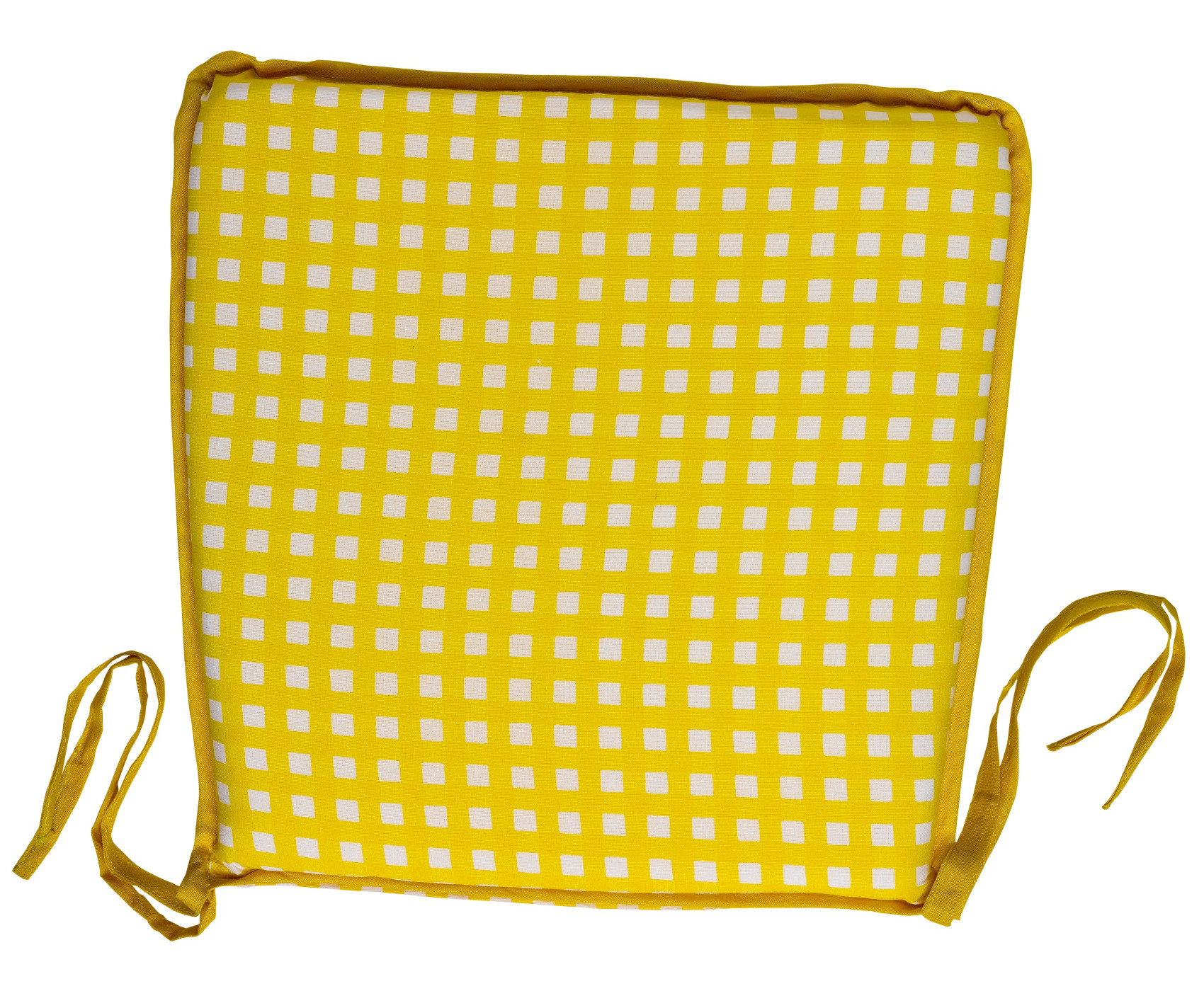 Garden Seat Pad 100 Cotton Gingham Check Kitchen Dining