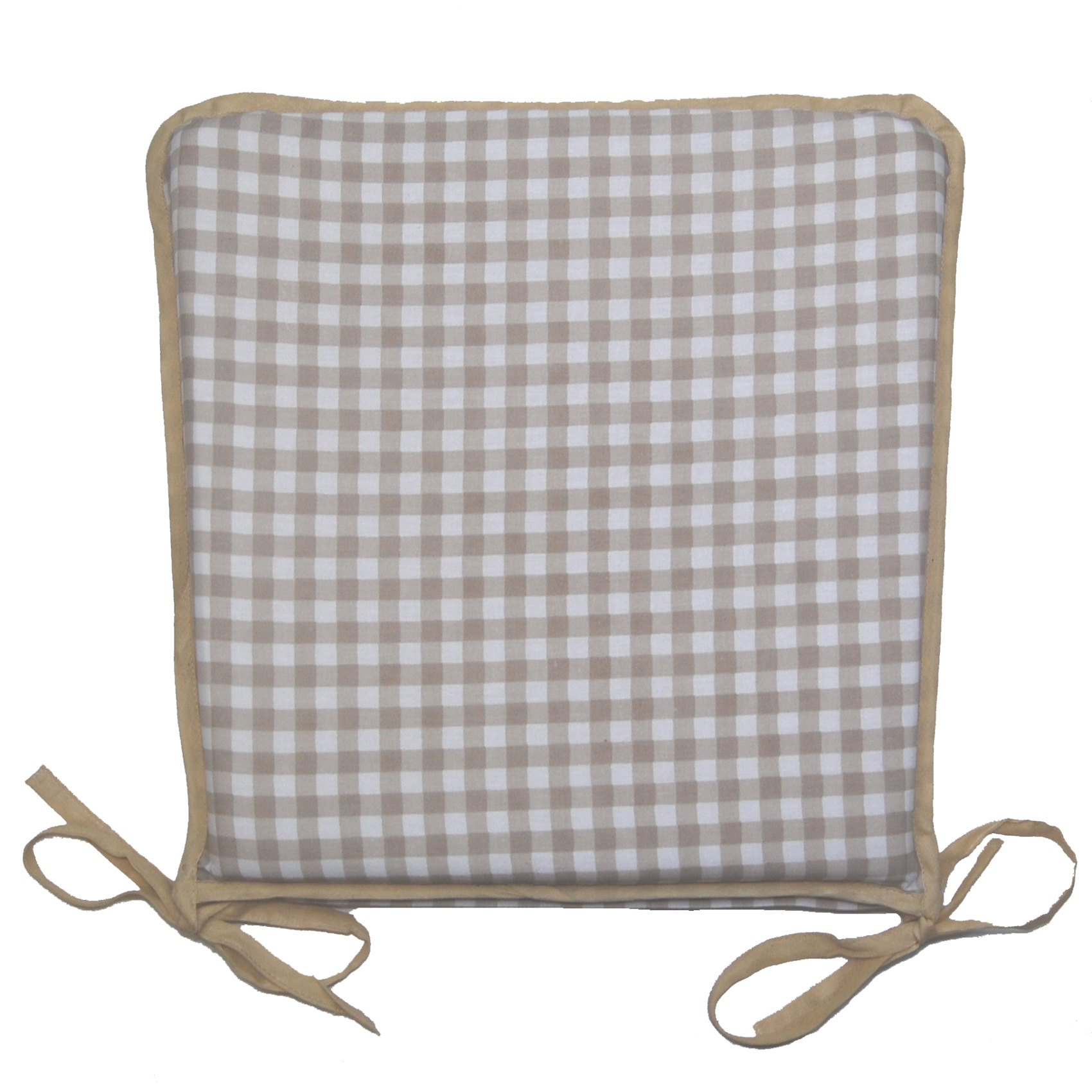 100% Cotton Gingham Check Square Seat Pad Dining Chair ...