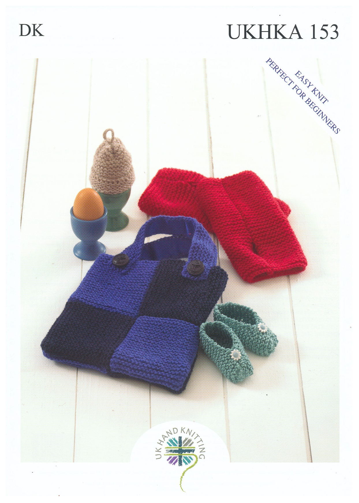 Egg Cosy Wrist Warmers /& Bag DK Knitting Pattern UKHKA153 Baby Shoes