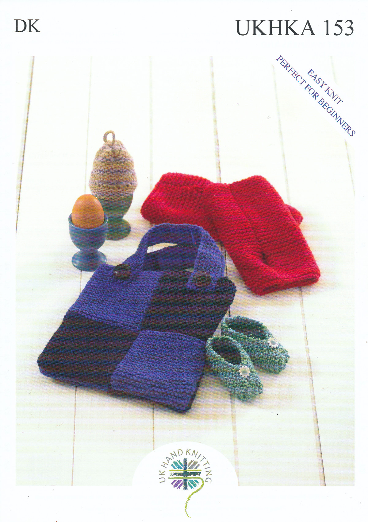 Easy Knit Baby Shoes Egg Cosy Wrist Warmers & Bag DK Knitting ...