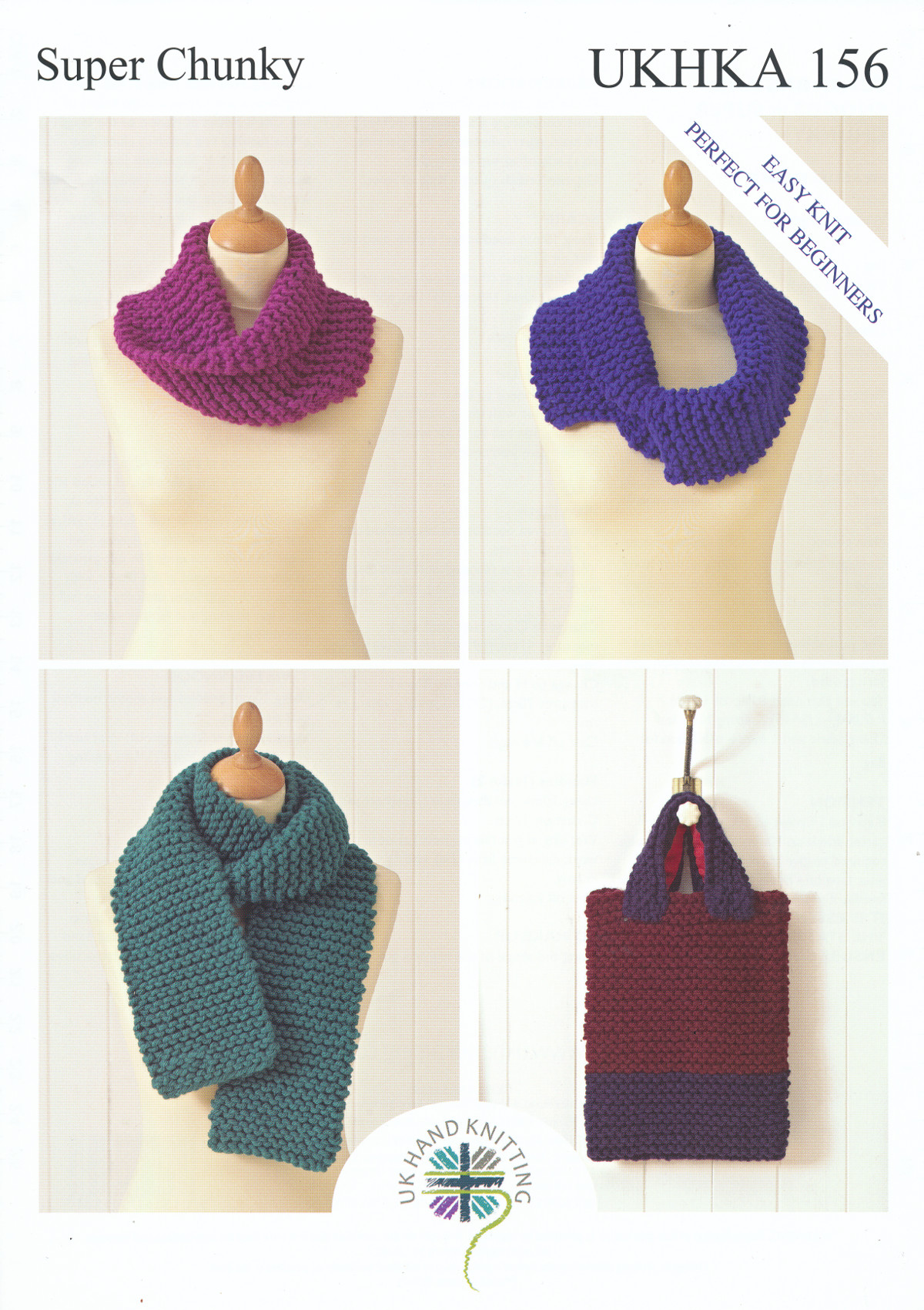 Super Chunky Knitting Pattern for Easy Knit Ladies Scarf Bag ...