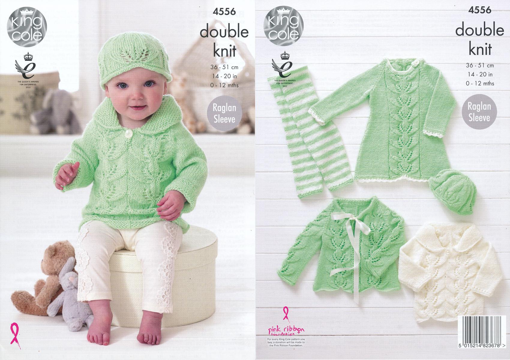 Knitting Pattern King Cole Baby DK Dress Cardigan Jumper Leggings ...
