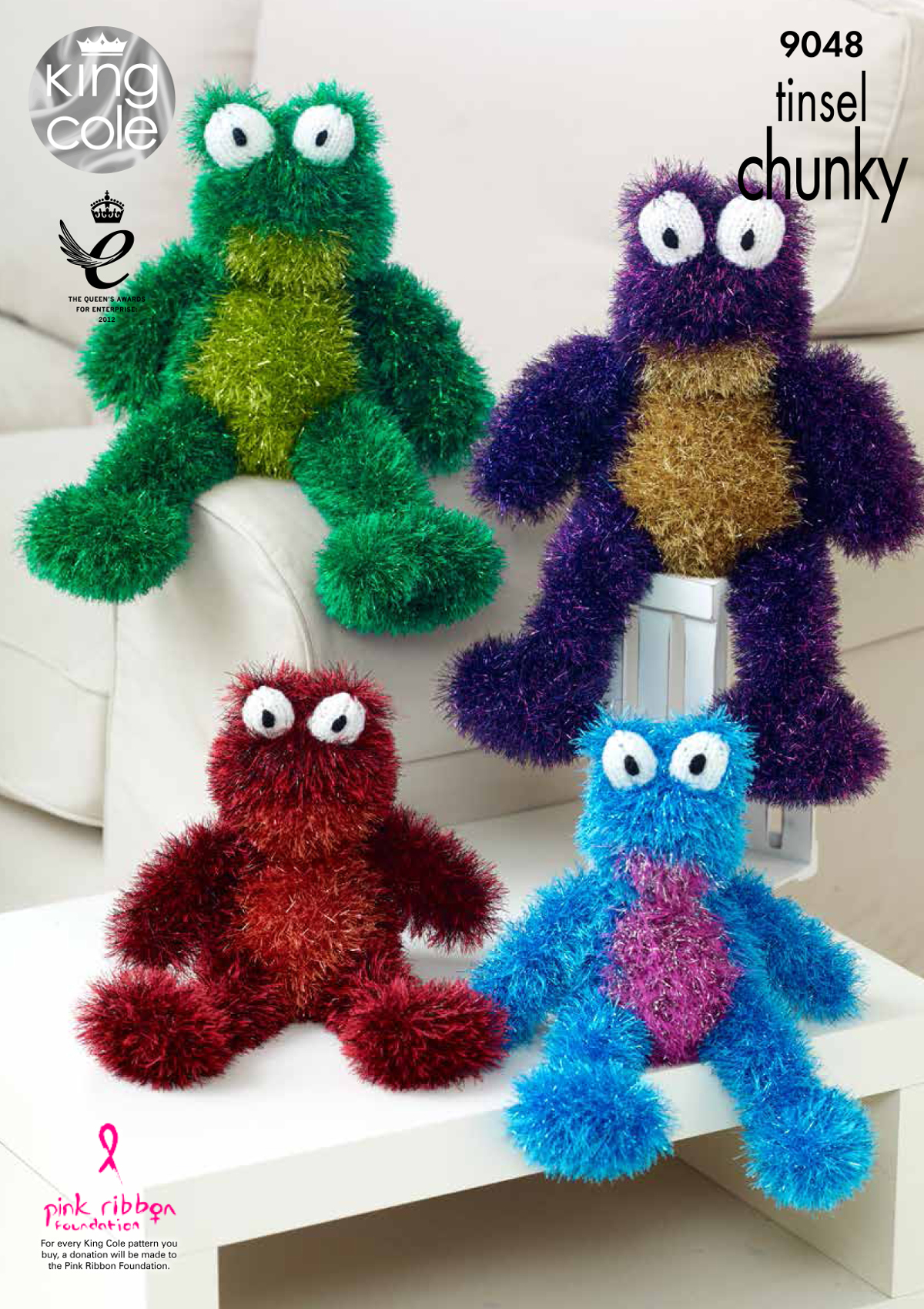 Tinsel chunky knitting pattern small or large frog animal toy king tinsel chunky knitting pattern small or large frog animal toy king cole 9048 bankloansurffo Gallery