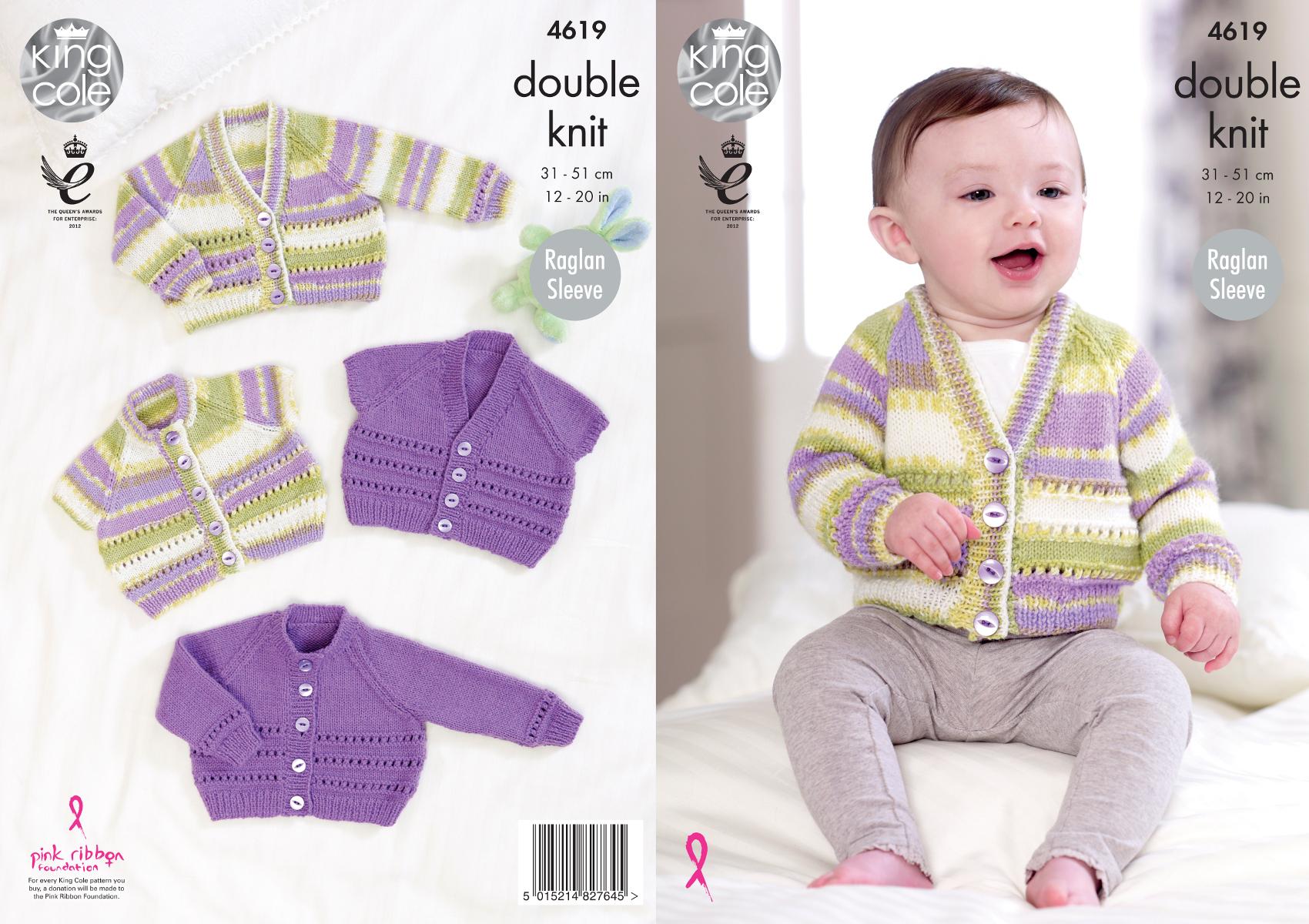 Baby raglan sleeve lace cardigans double knitting pattern king baby raglan sleeve lace cardigans double knitting pattern king cole dk 4619 bankloansurffo Choice Image