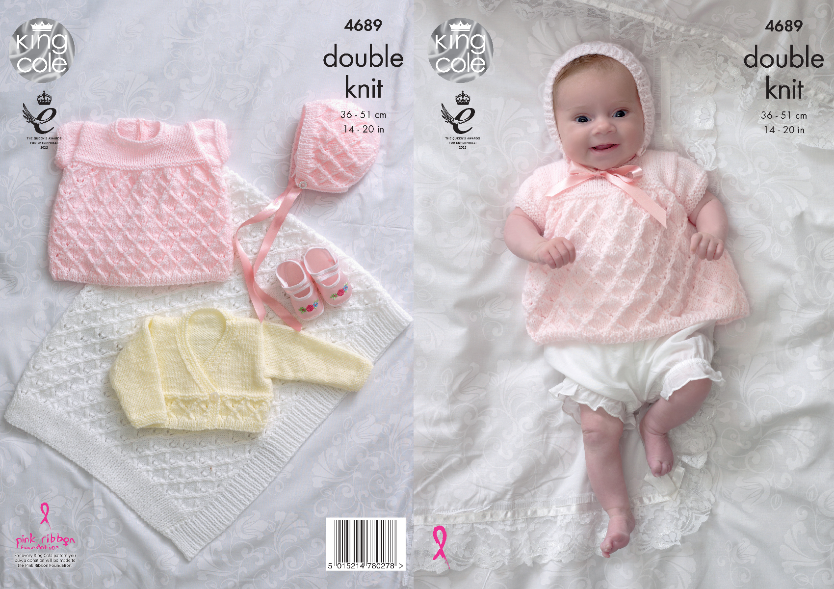 King cole baby double knitting pattern angel top cardigan bonnet please look at images below for the chart showing measurements yarn and materials requirement to make this garment bankloansurffo Choice Image