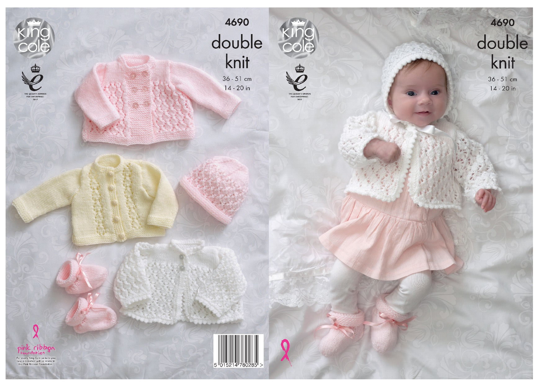 e3841af2df66 Knitting Pattern Baby Matinee Jacket Cardigan Bonnet Bootees King ...