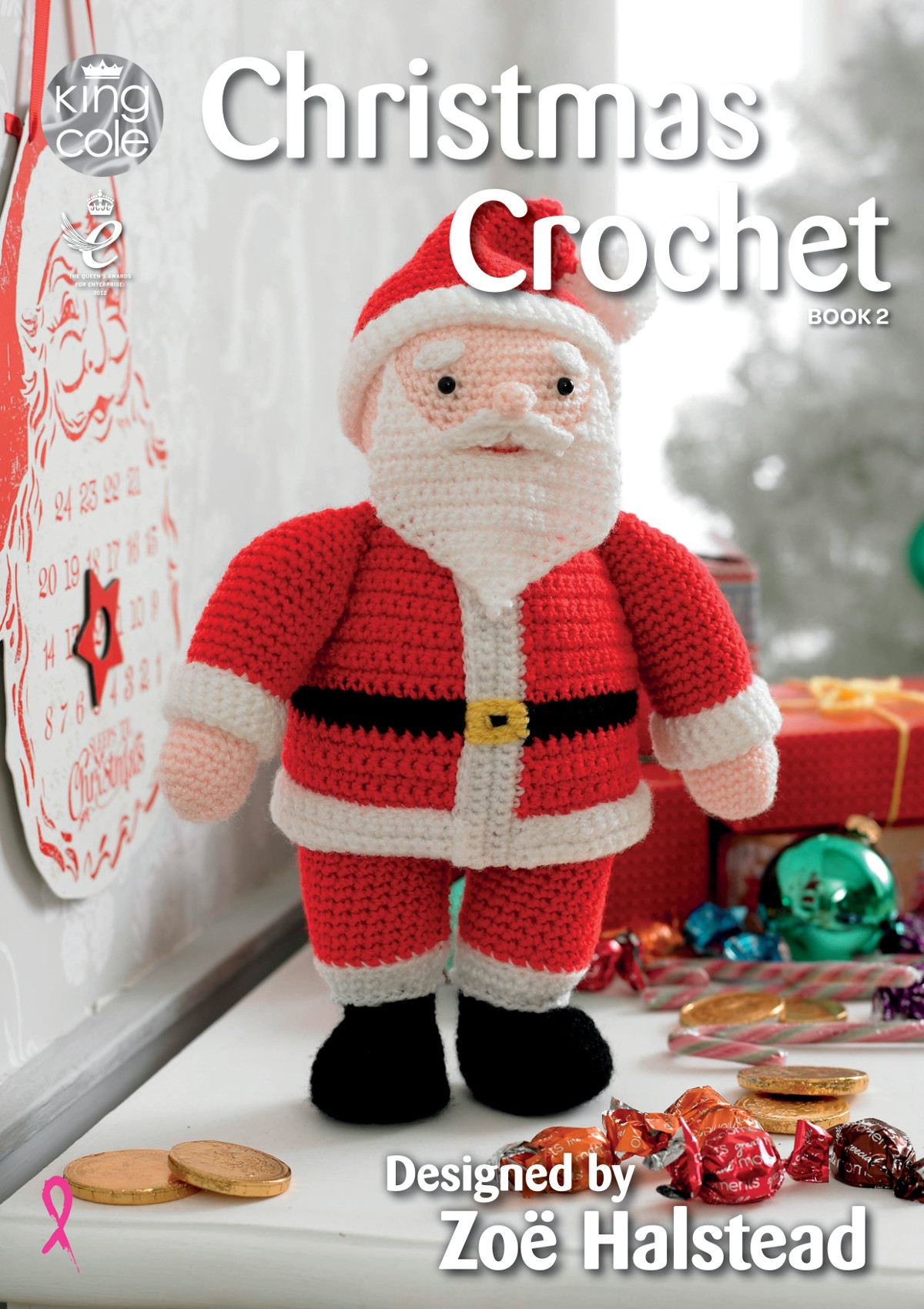 Christmas Crochet Pattern Book King Cole Xmas Decorations Toys