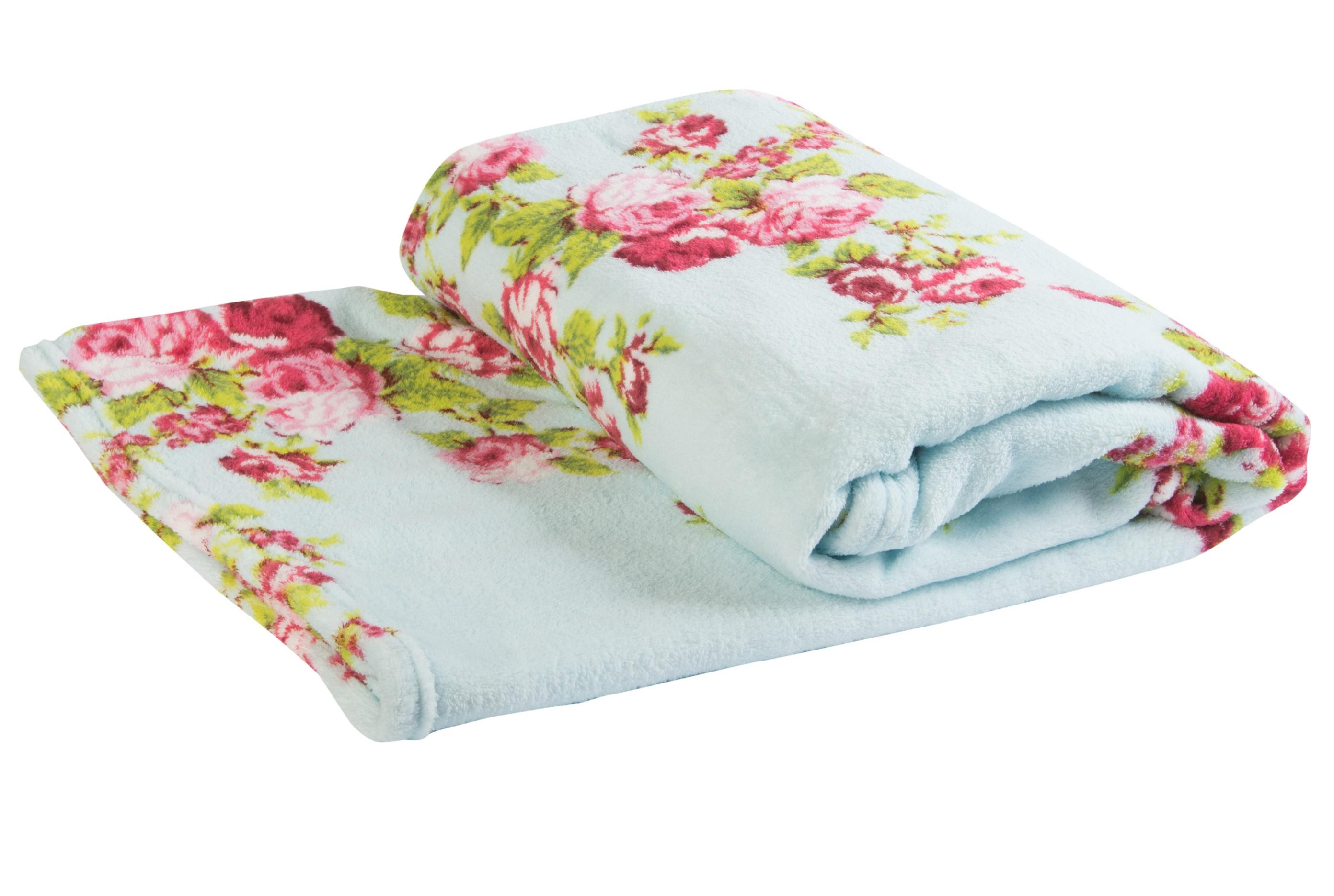 Mara Vintage Fl Soft C Fleece Blanket Cosy Bed Sofa Throw 140cm X 180cm