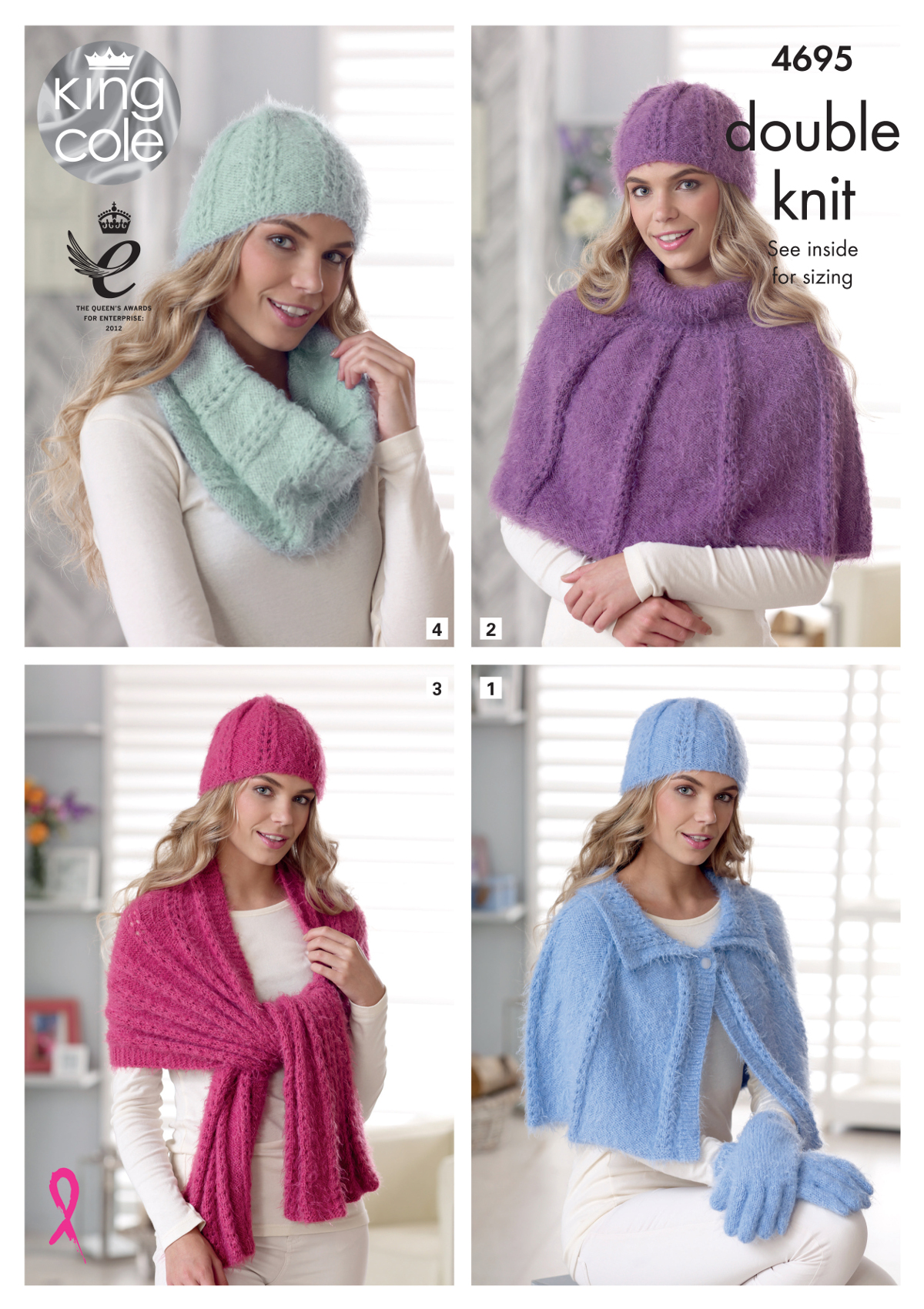 Details about Womens Capes Wrap & Accessories Knitting Pattern King Cole  Double Knit DK 4695