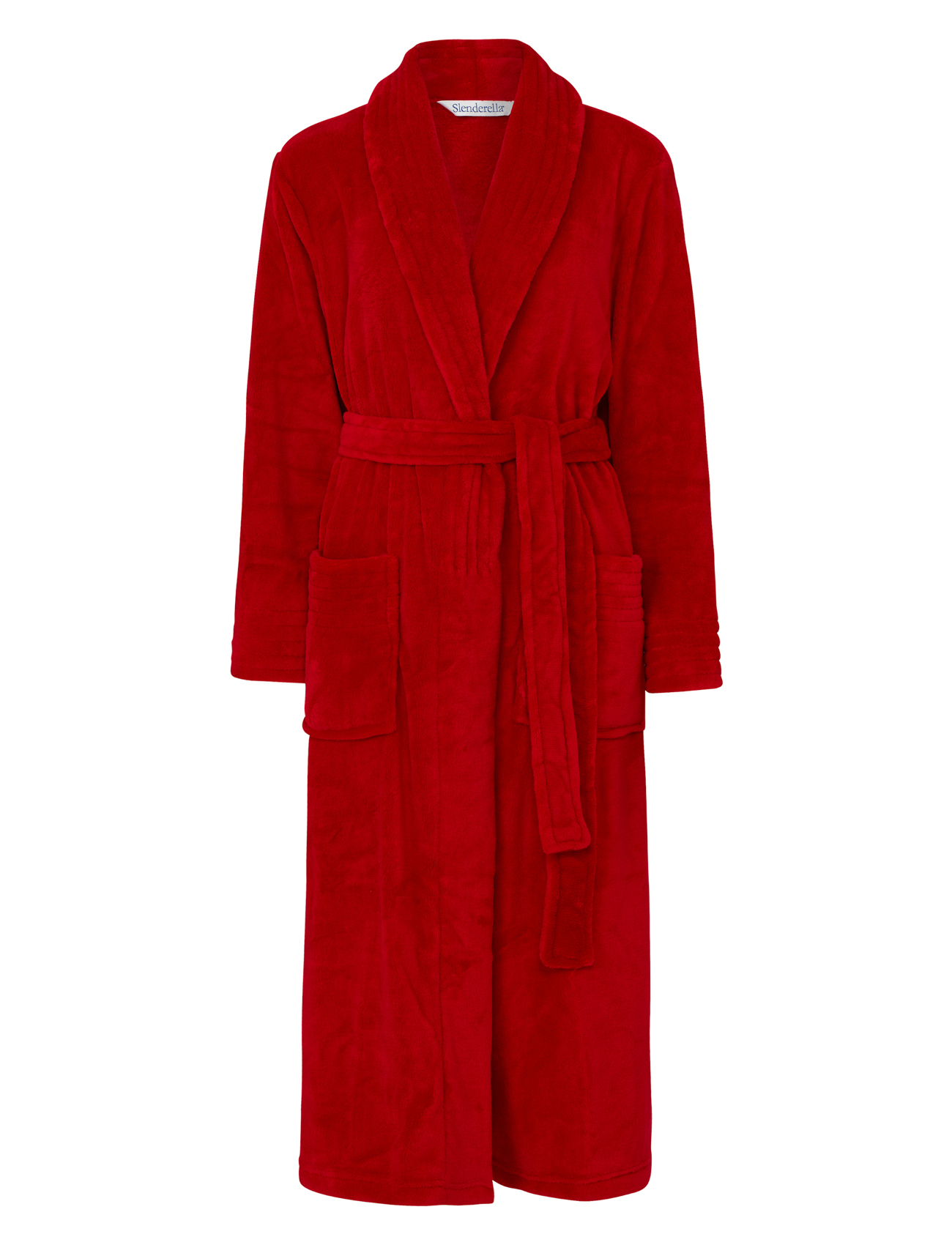 Dressing Gown Womens Wrap Around Soft Fleecy Plain Bath Robe Pockets