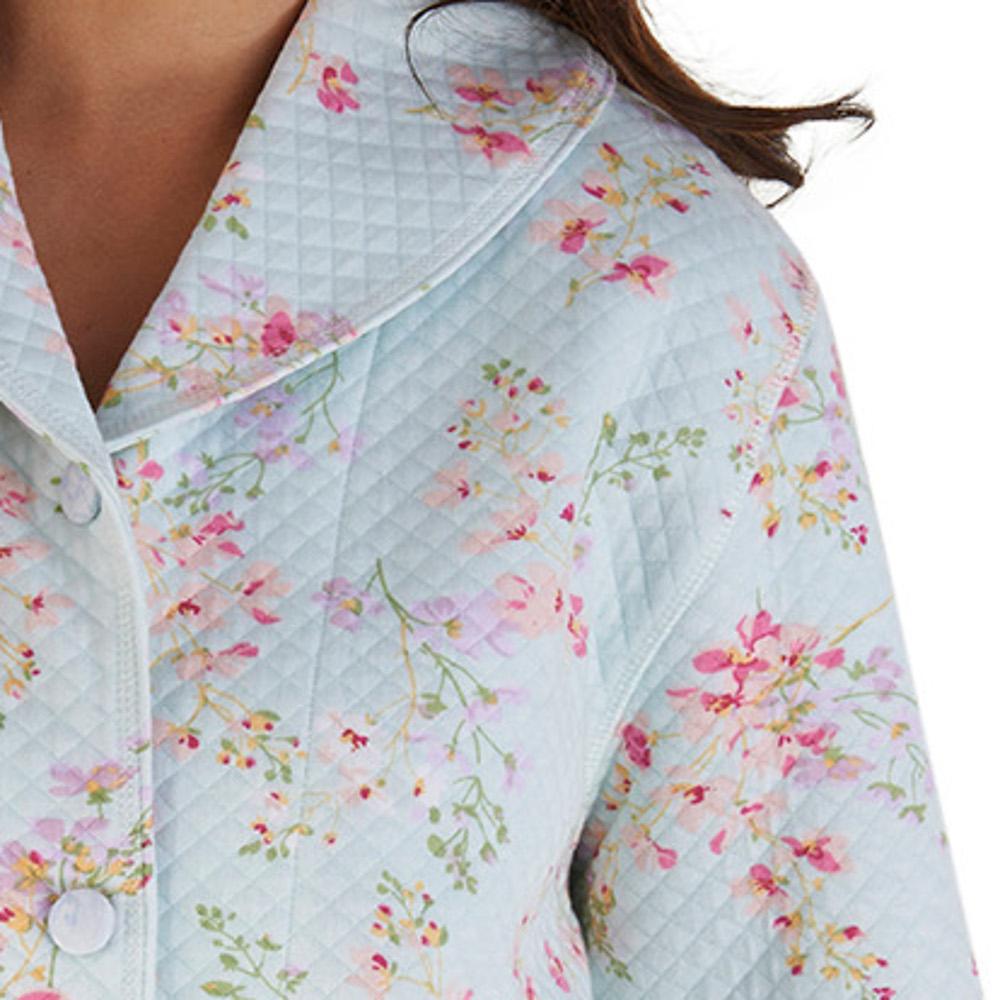 Bed Jacket Slenderella Womens Floral Mock Quilt Shawl