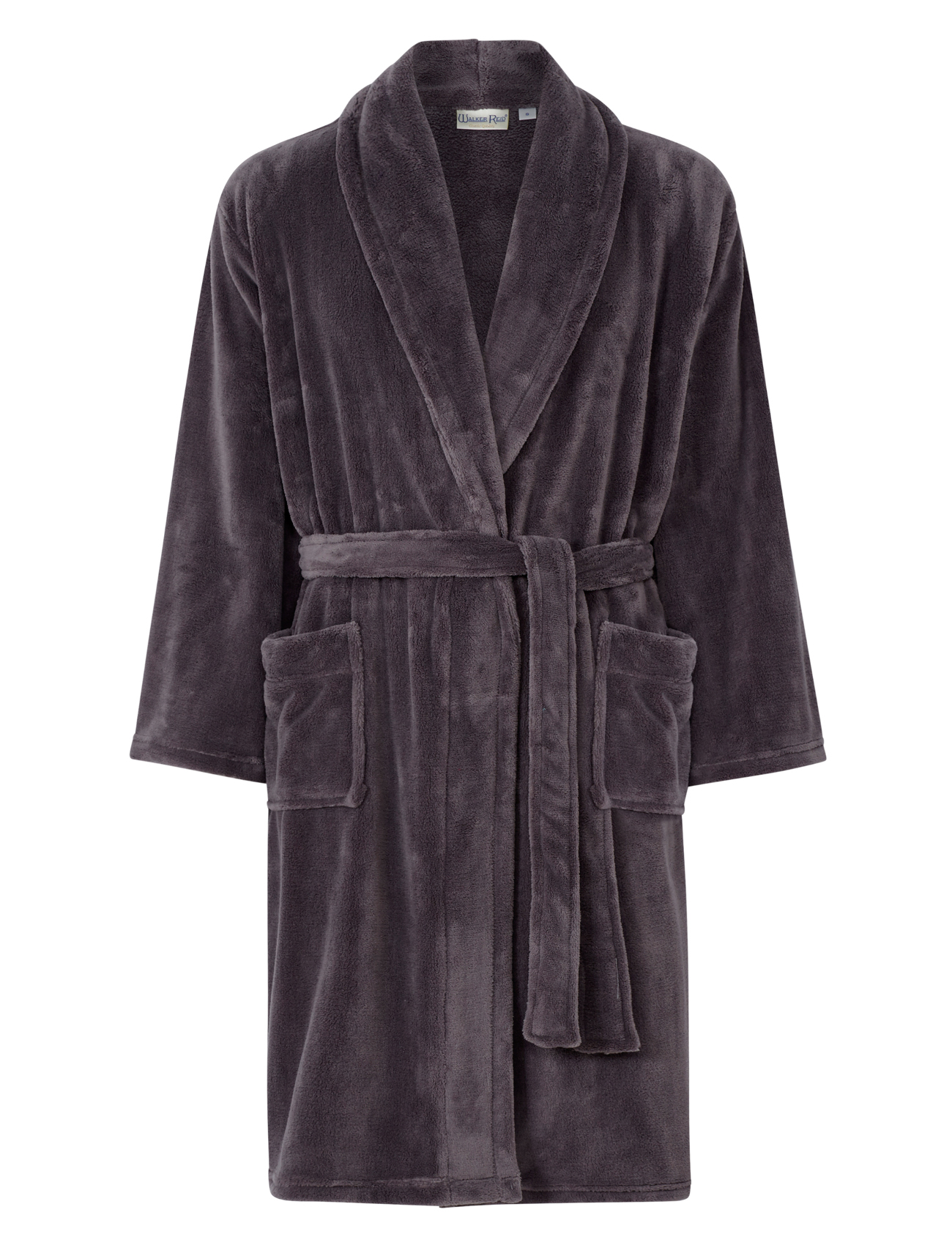 Dressing Gown Mens Soft Fleecy Plain Bathrobe Luxury Walker Reid ...