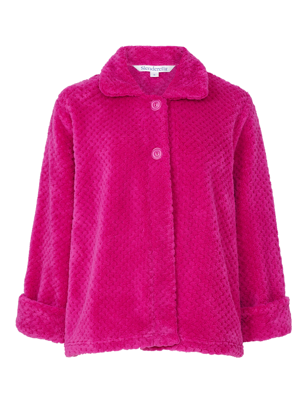 Slenderella Ladies Button Up Soft Waffle Fleece Bed Jacket