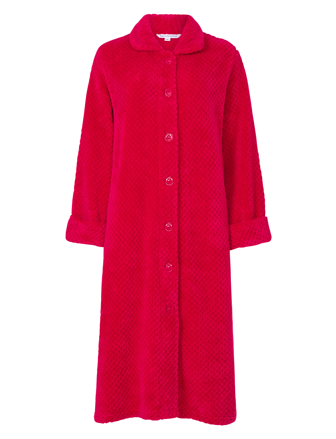Dressing Gown Ladies Button Up Soft Waffle Fleece ...