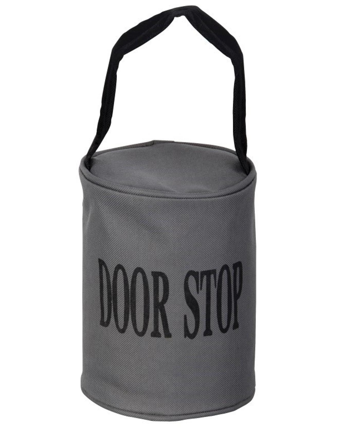 Grey Doorstop Heavy Duty 2.5KG Fabric Home Door Stop Stopper With Black  Handle