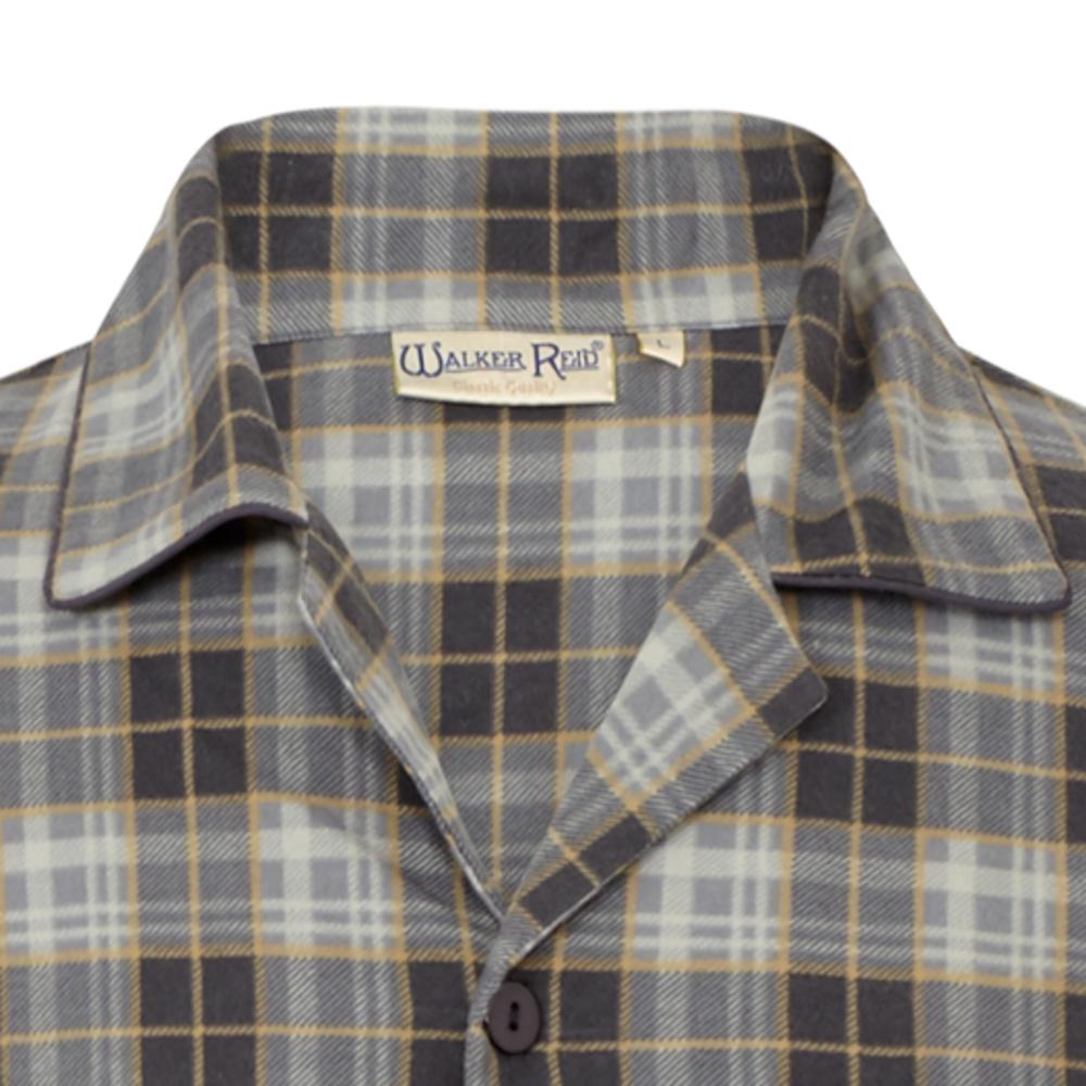 9ed1bf857c Walker Reid Mens Tartan Nightshirt Yarn Dyed 100 % Cotton Twill ...