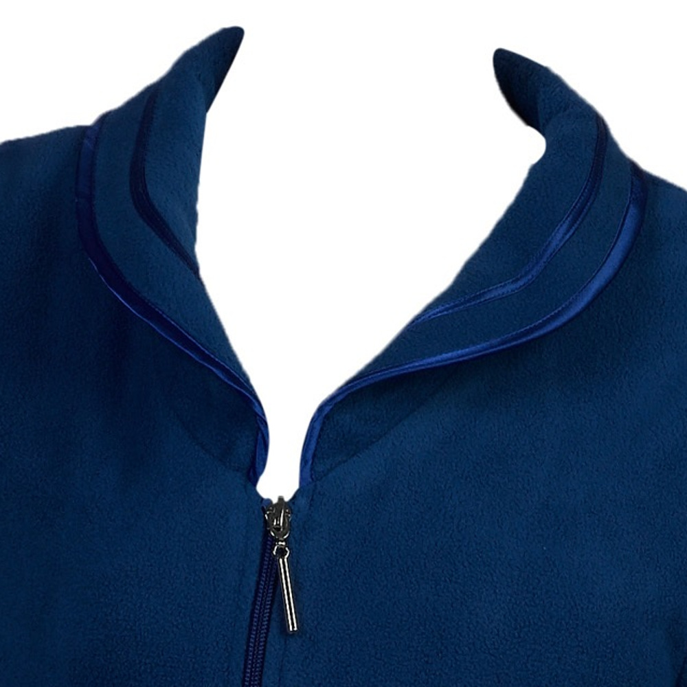 bd44d4ea88 These ladies anti-pill polar fleece dressing gowns are a zip up style with  satin style trim