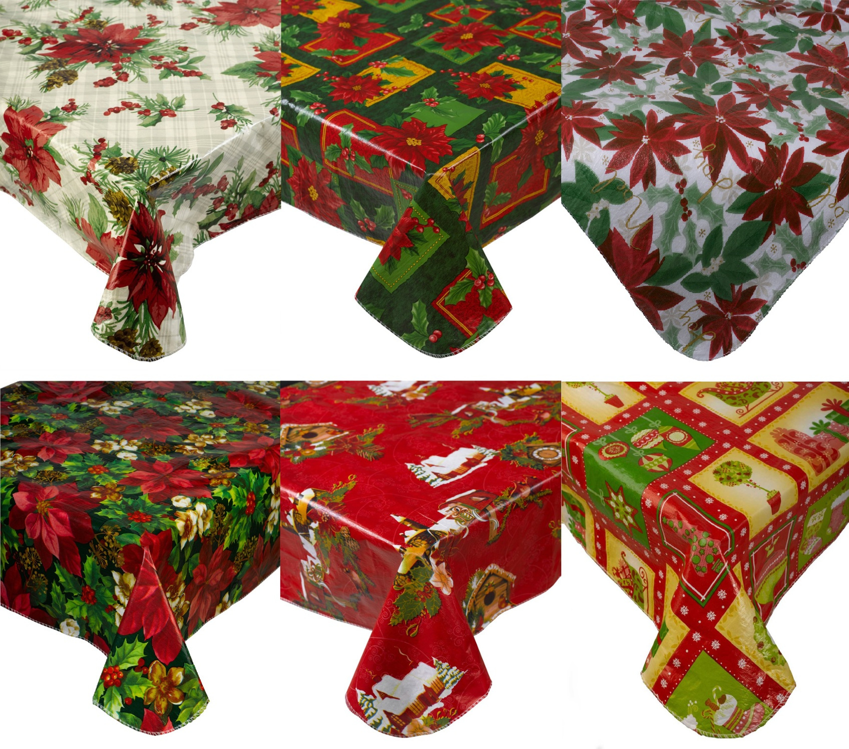 Christmas Tablecloths.Details About Festive Christmas Tablecloth Pvc Flannel Back Xmas Design Home Decor Table Linen