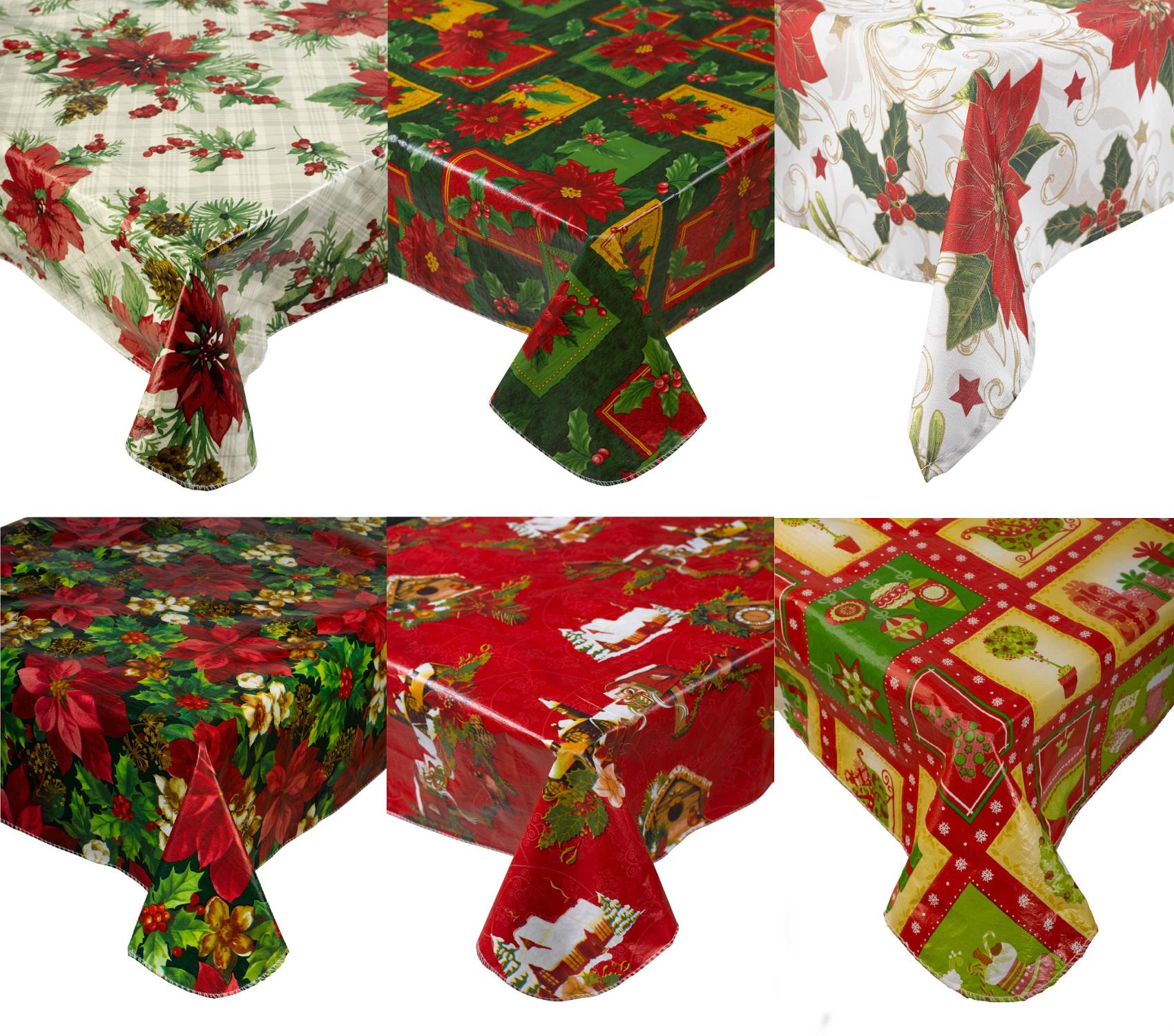 Christmas Poinsettia Tablecloths