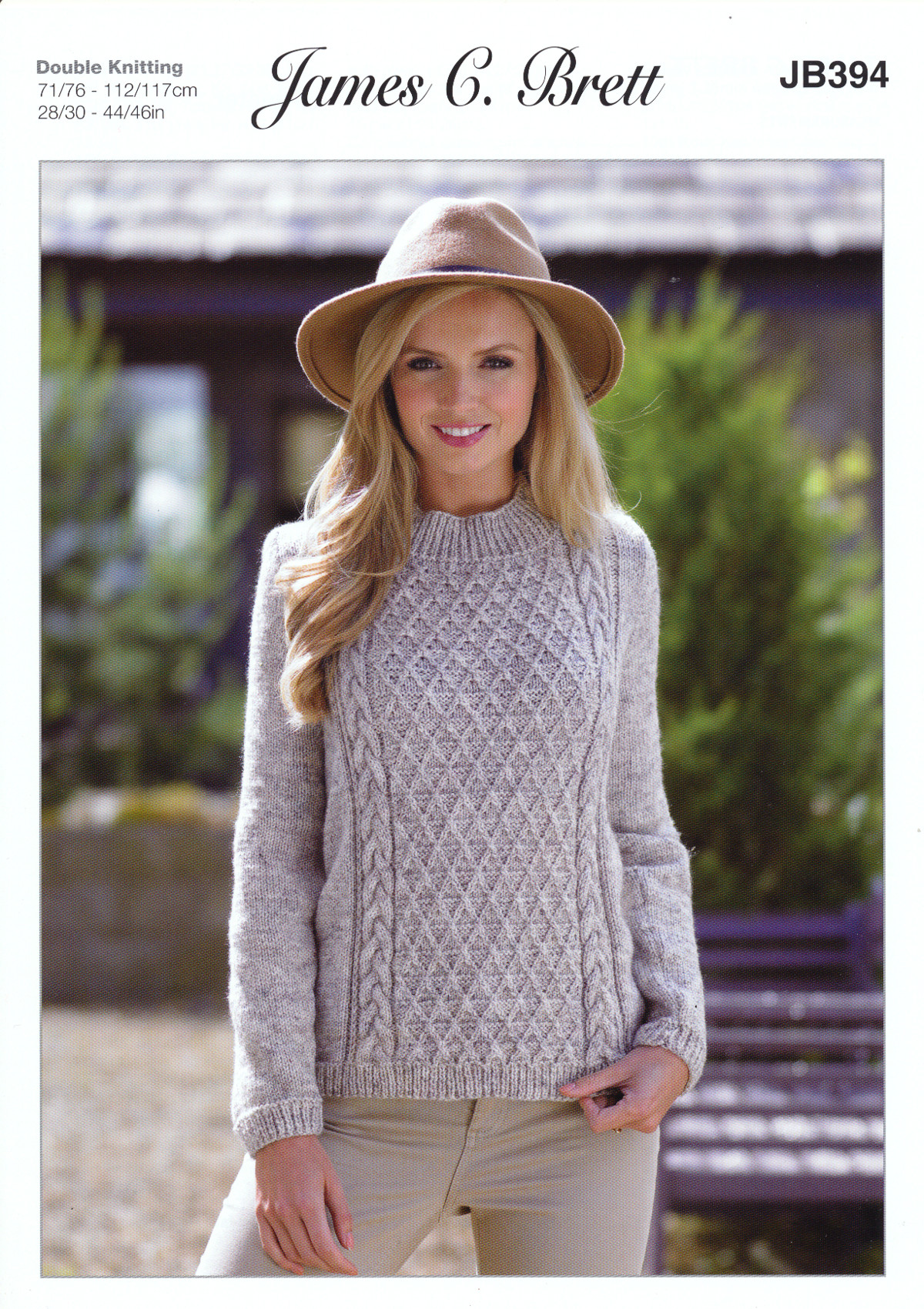 Knitting Pattern Ladies Long Sleeve Cabled Sweater Jumper ...