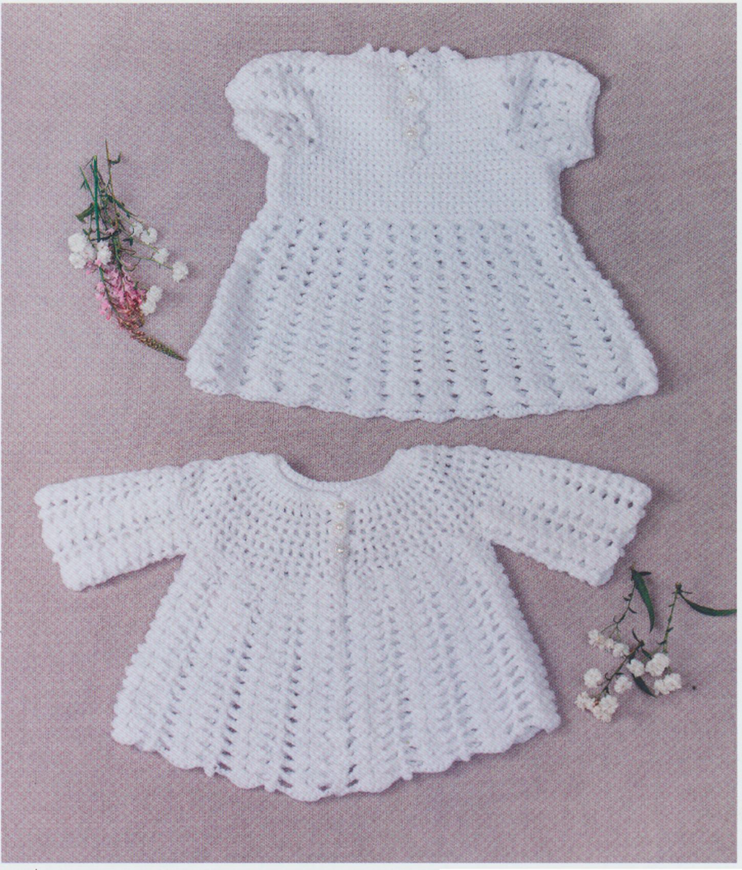 Double Knit Crochet Pattern For Baby Lace Dress Long Sleeve Angel