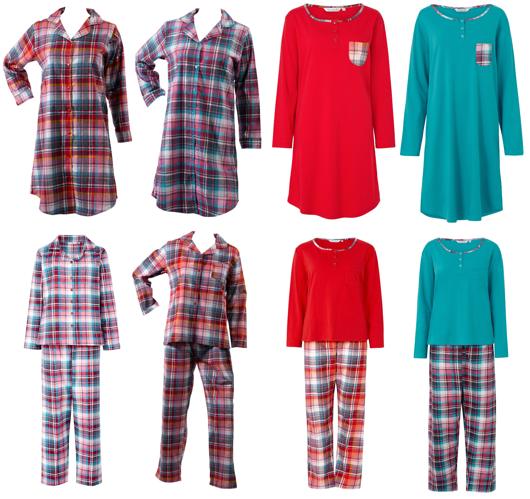 8c5bbf57dc Slenderella Nightdress Nightshirt or Pyjamas 100% Cotton Tartan Check  Sleepwear