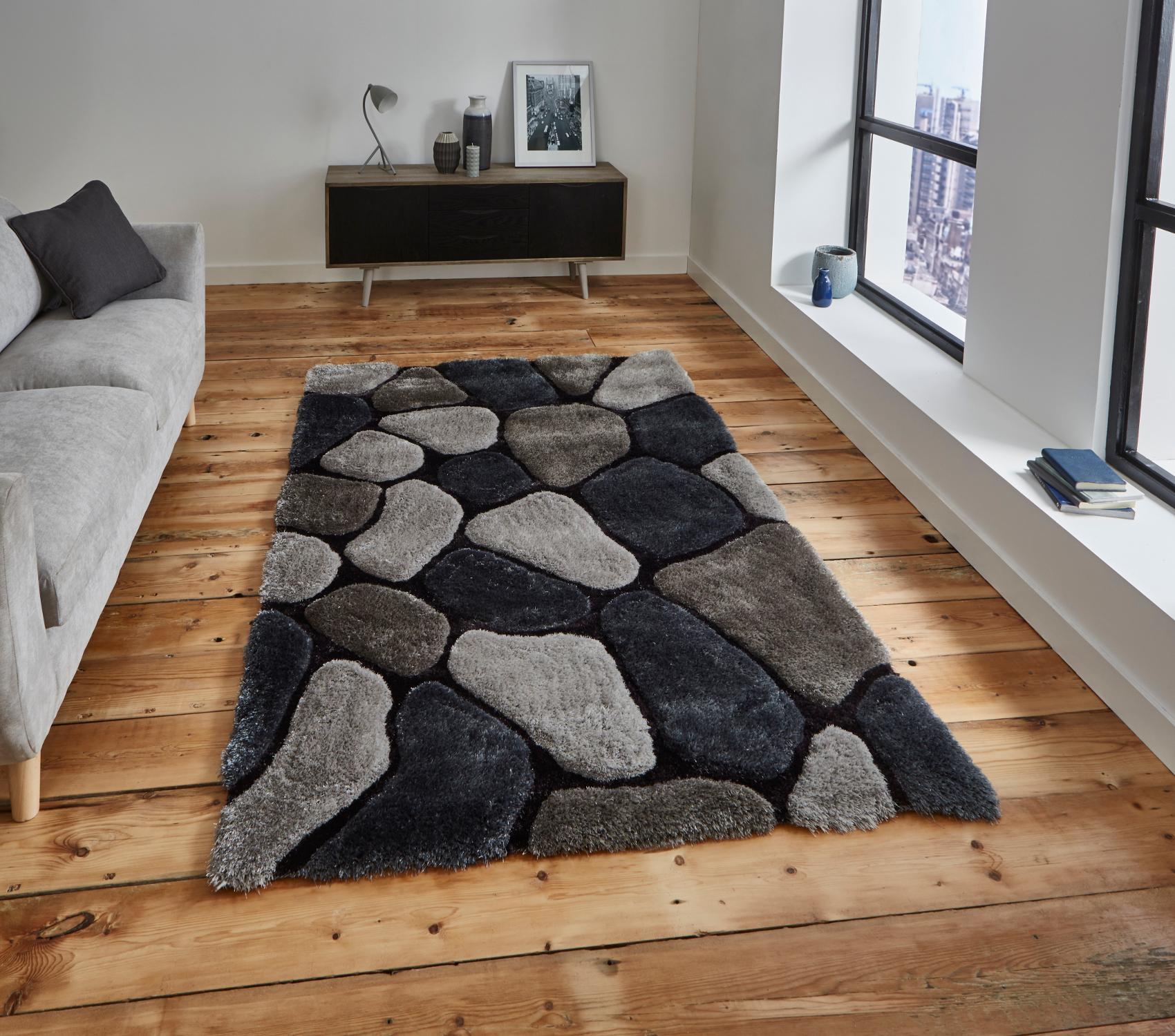 Gy Rug Super Soft Le House Hand Tufted Pebble Home Décor Floor Mat