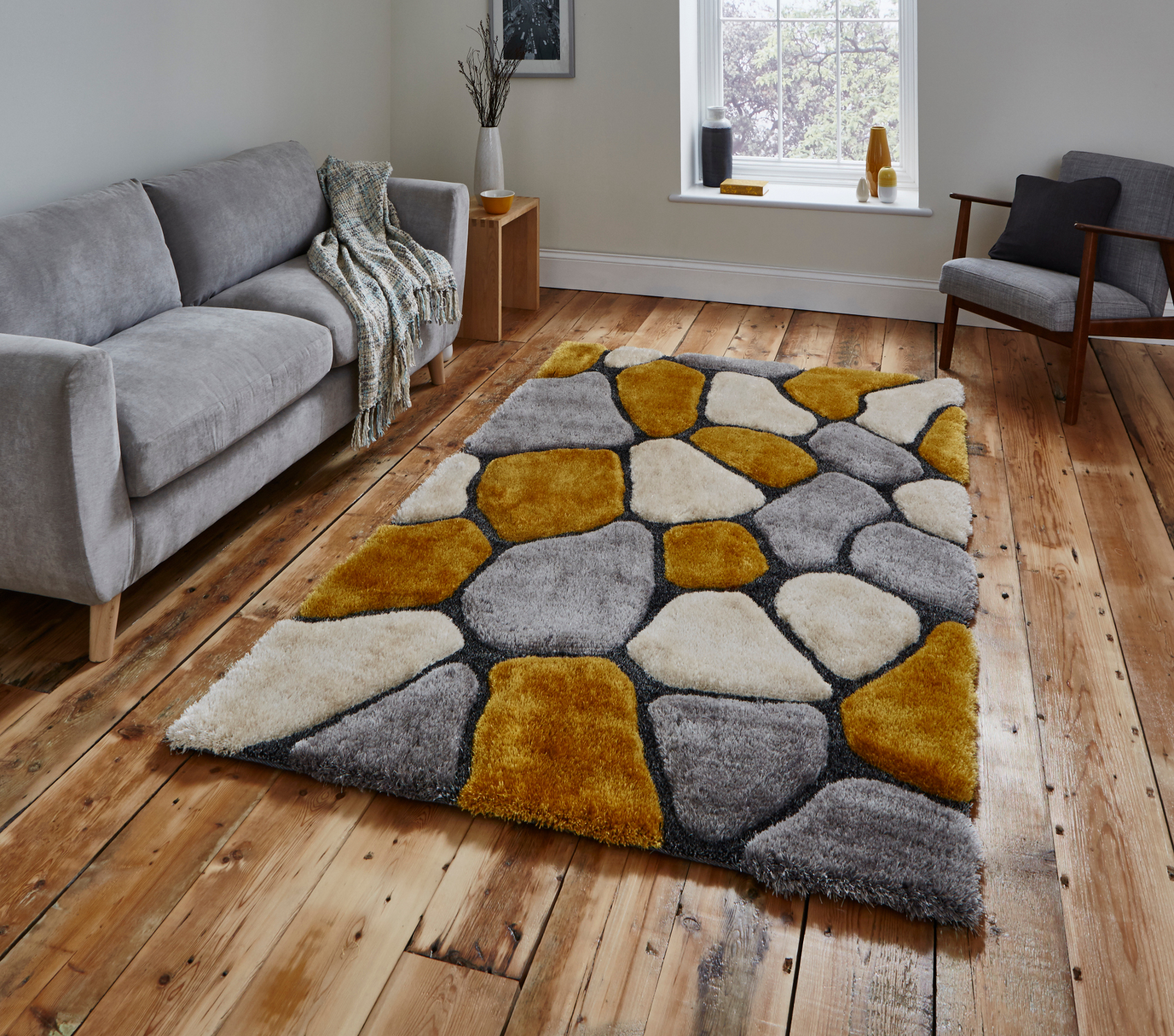 These Hand Tufted Acrylic And Soft Polyester Rugs Have A Multi Textured  Pile With A Striking 3D Pebble Design Throughout And Would Make The Perfect  ...