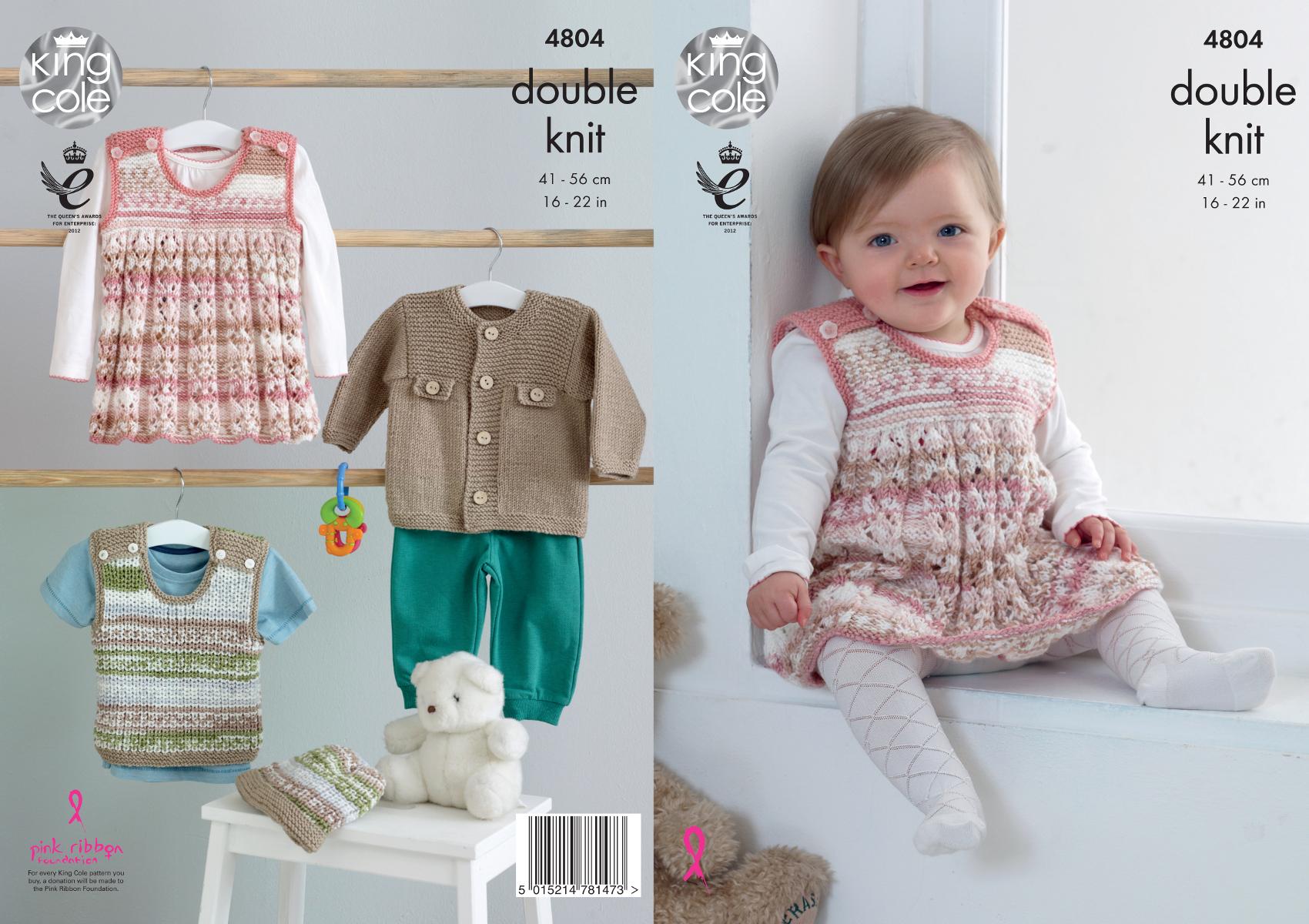 Double knitting pattern baby jacket pinafore dress top hat king double knitting pattern baby jacket pinafore dress top hat king cole dk 4804 bankloansurffo Choice Image