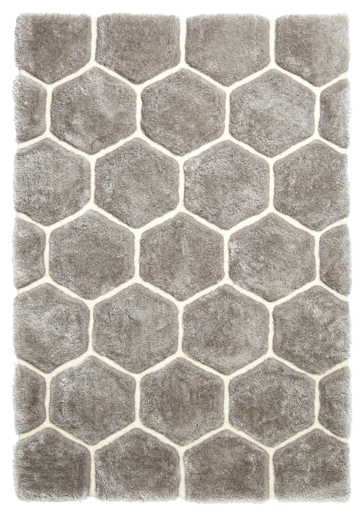 Picture of: Shaggy Rug Super Soft Noble House Hand Tufted Honeycomb Hexagon Home Decor Mat For Sale