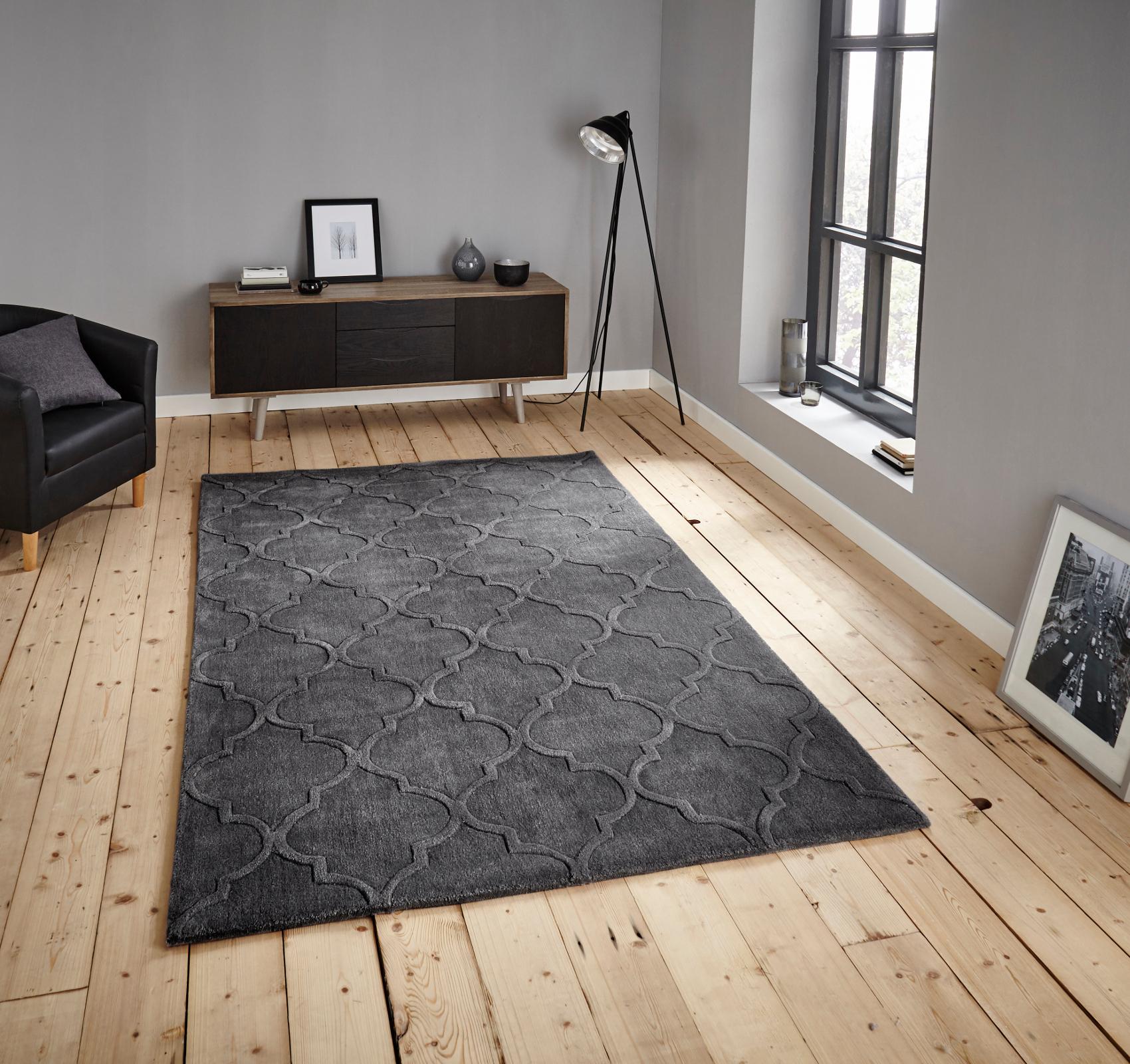 hong kong hand tufted trellis design rug arabesque style home