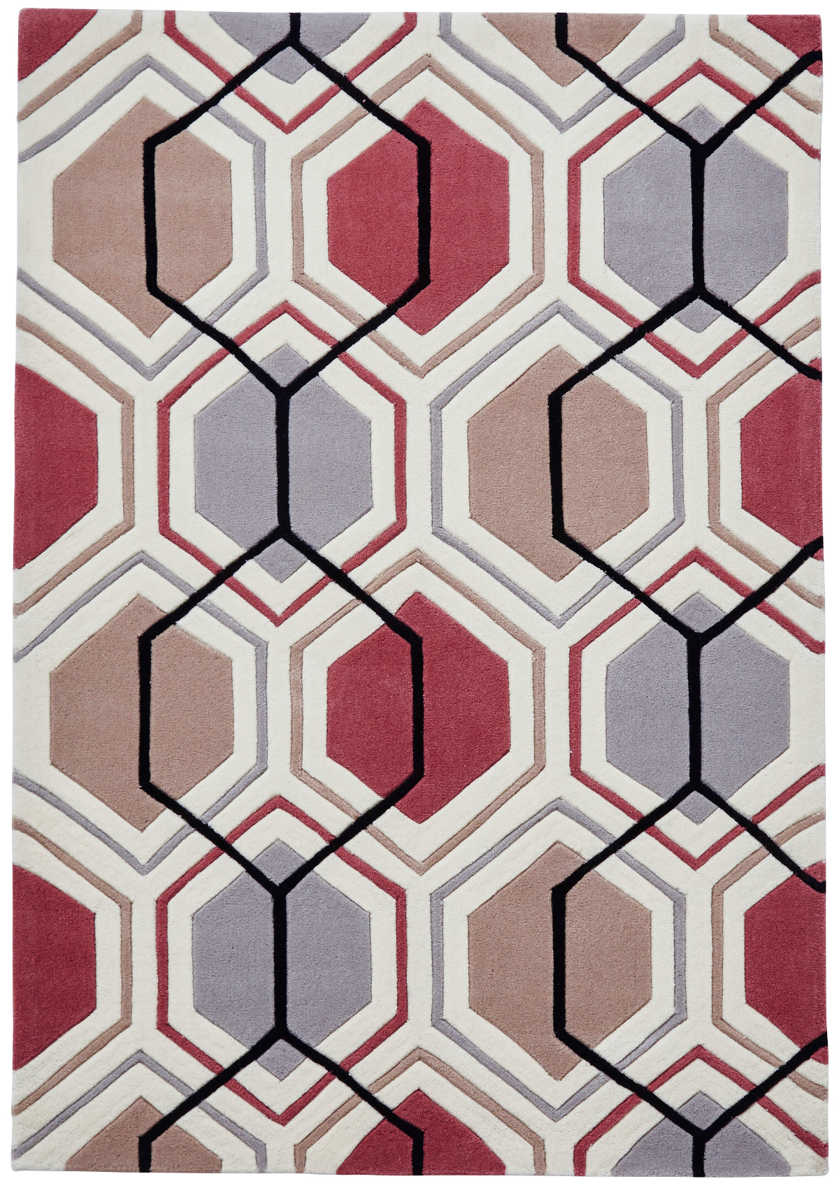 modern geometric design rug hexagon 100 acrylic hand tufted large